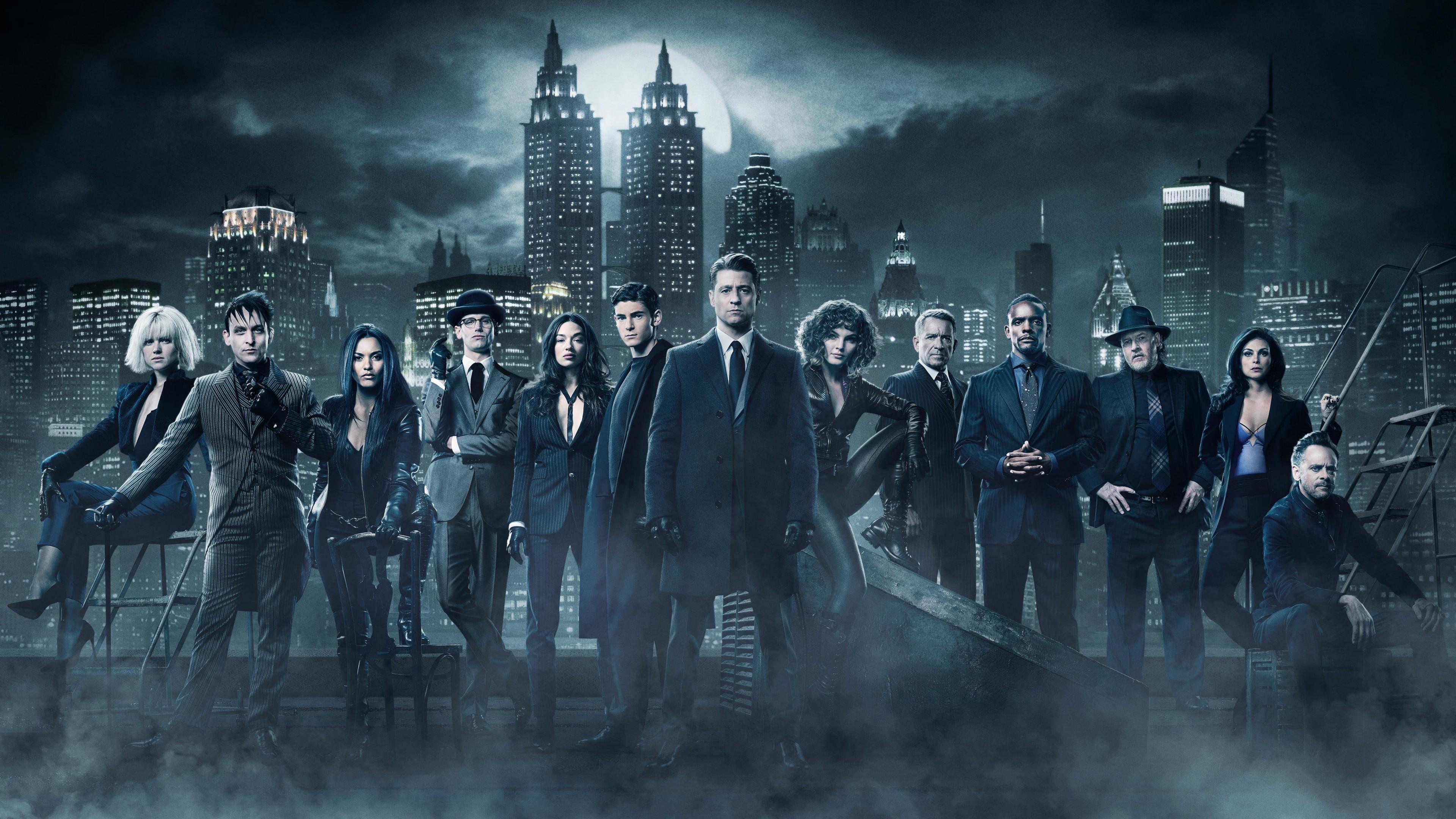 Pretty Little Liars Iphone Wallpaper Gotham Season 4 Cast 5k 2017 Wallpapers Hd Wallpapers
