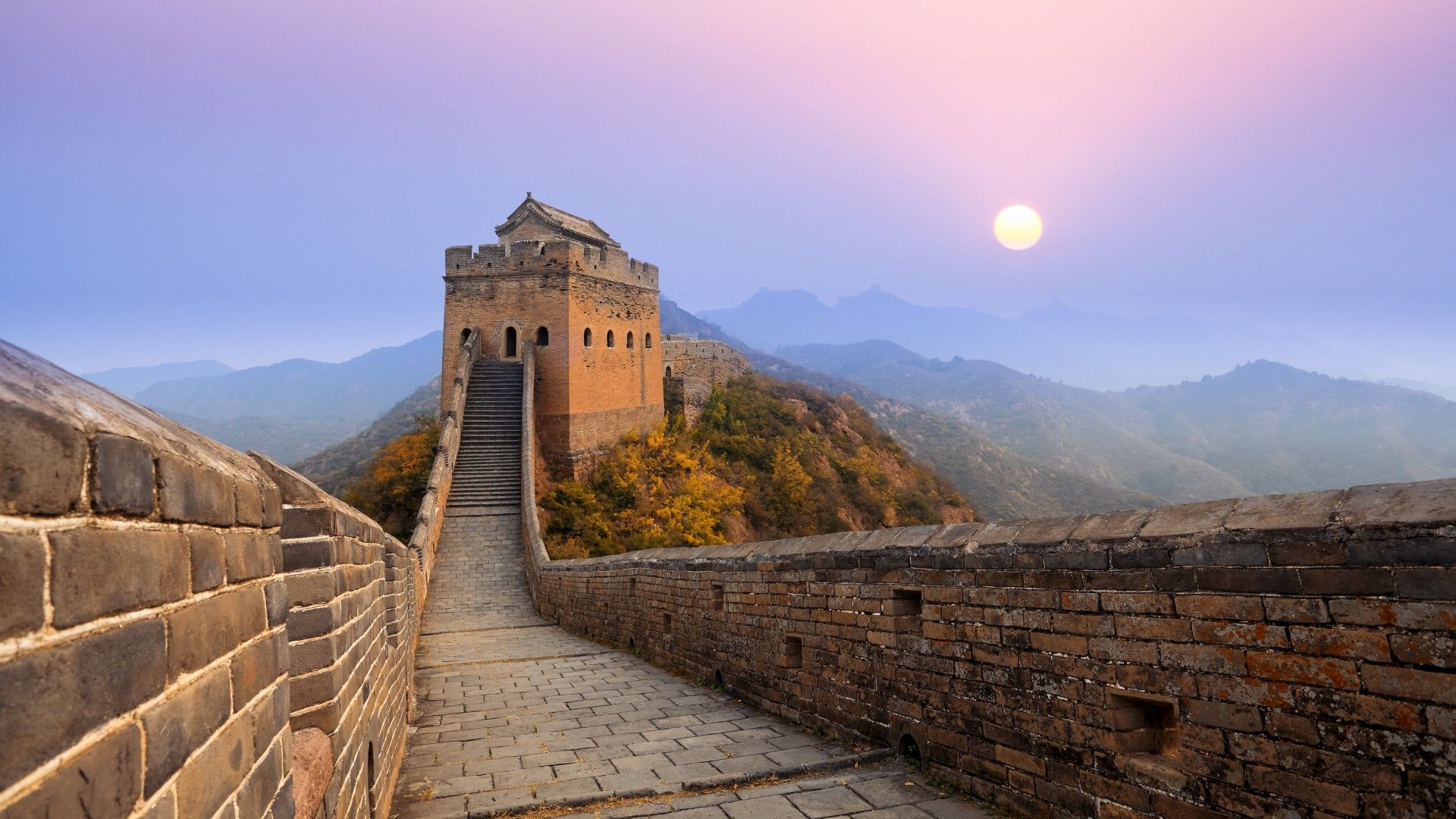 New 4k 3d Hd Wallpaper Great Wall Of China Sunrise Wallpapers Hd Wallpapers