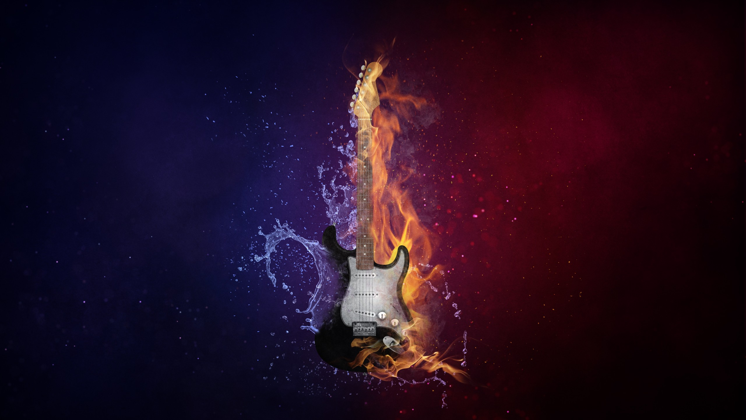 3d Wallpaper For Walls Designs Guitar Fire Amp Cold 5k Wallpapers Hd Wallpapers Id 22623