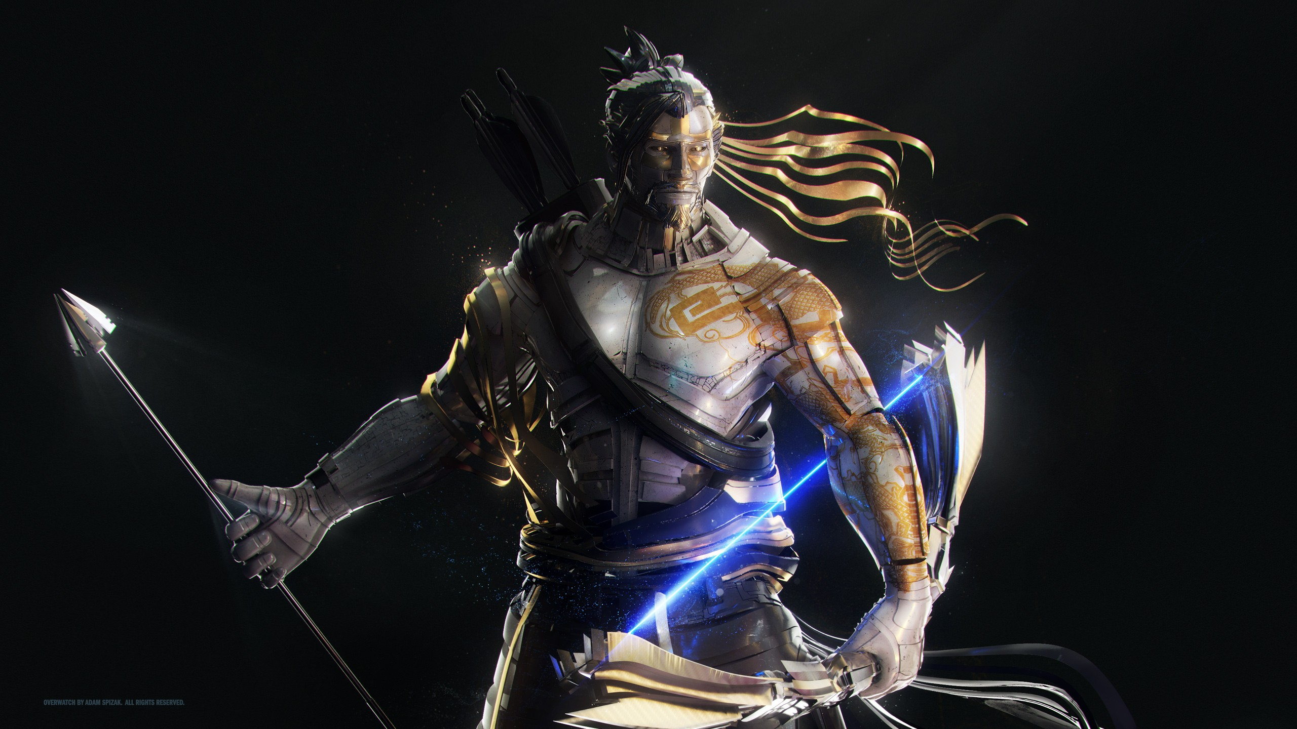Genji Wallpaper Iphone Hanzo Artwork Overwatch Wallpapers Hd Wallpapers Id 20520