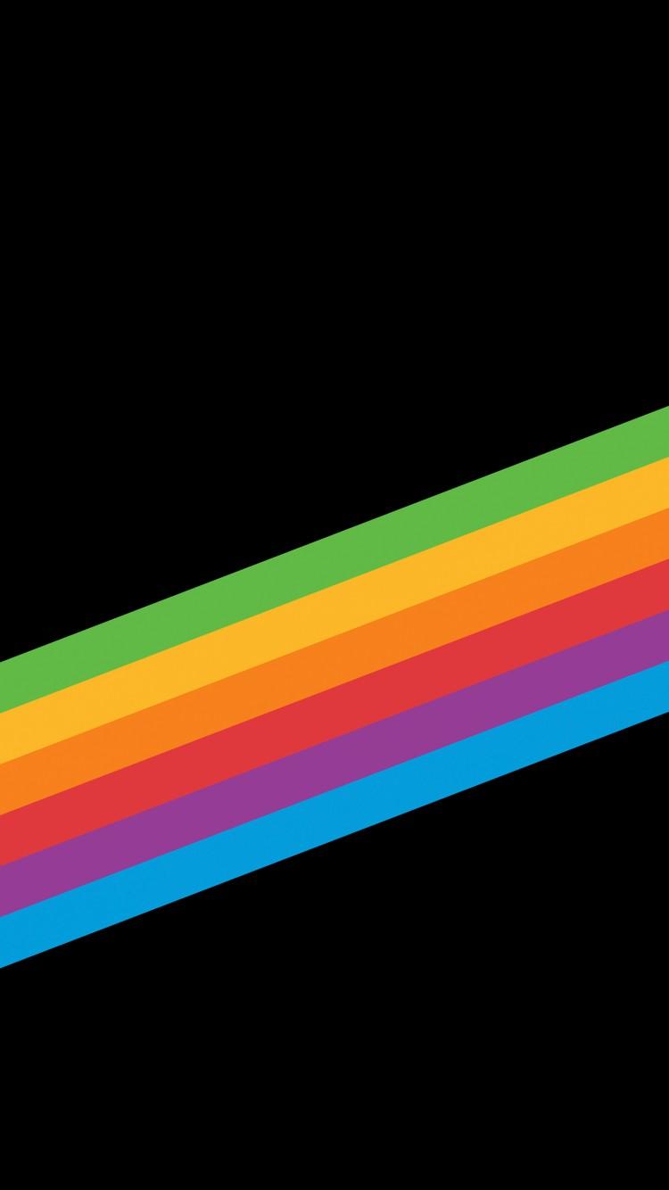 Apple Wallpaper Iphone 7 Hd Heritage Rainbow Stripe Iphone X Iphone 8 Ios 11 Stock