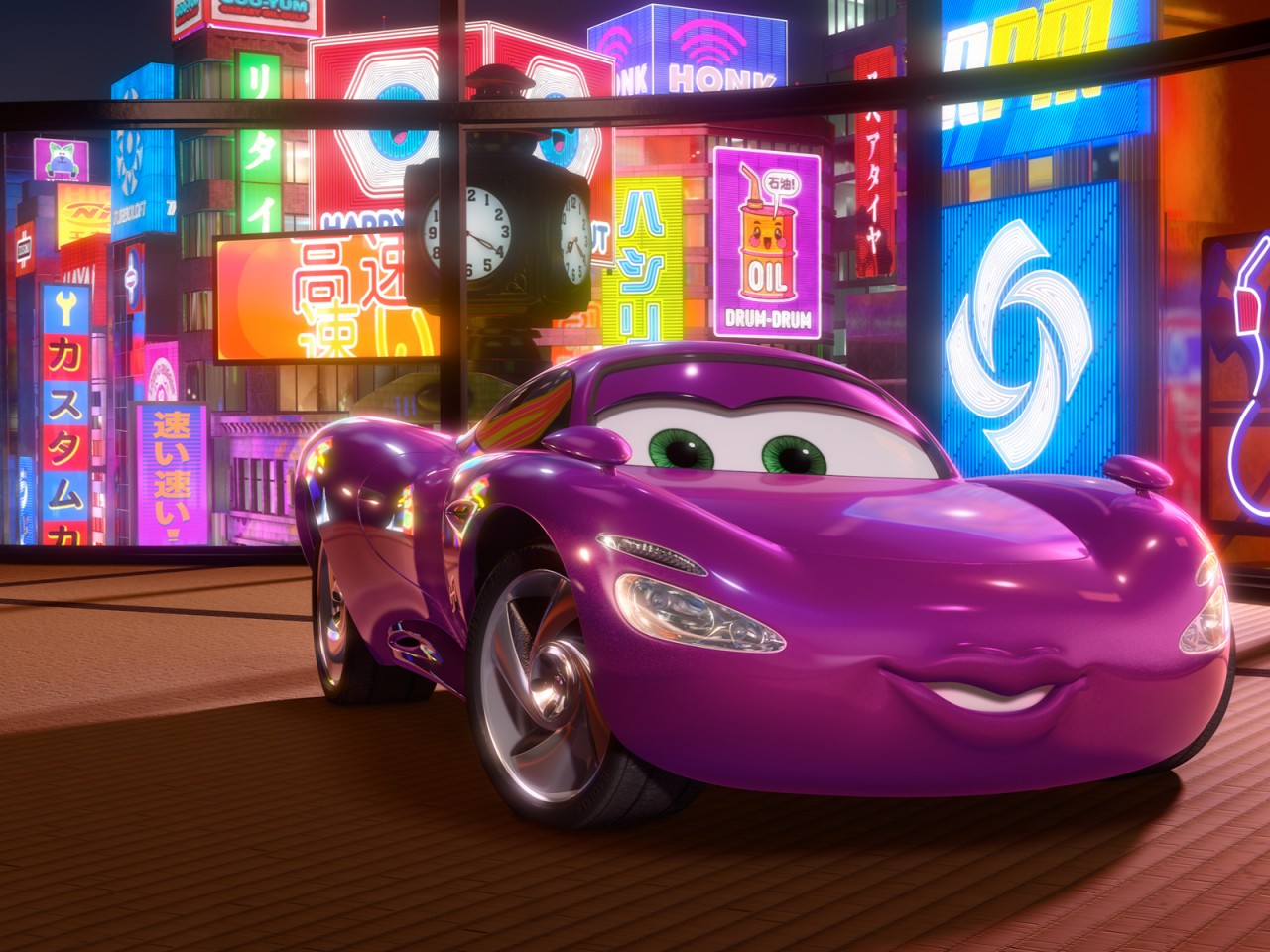 Pixar Cars Wallpaper Holley Shiftwell In Cars 2 Movie Wallpapers Hd