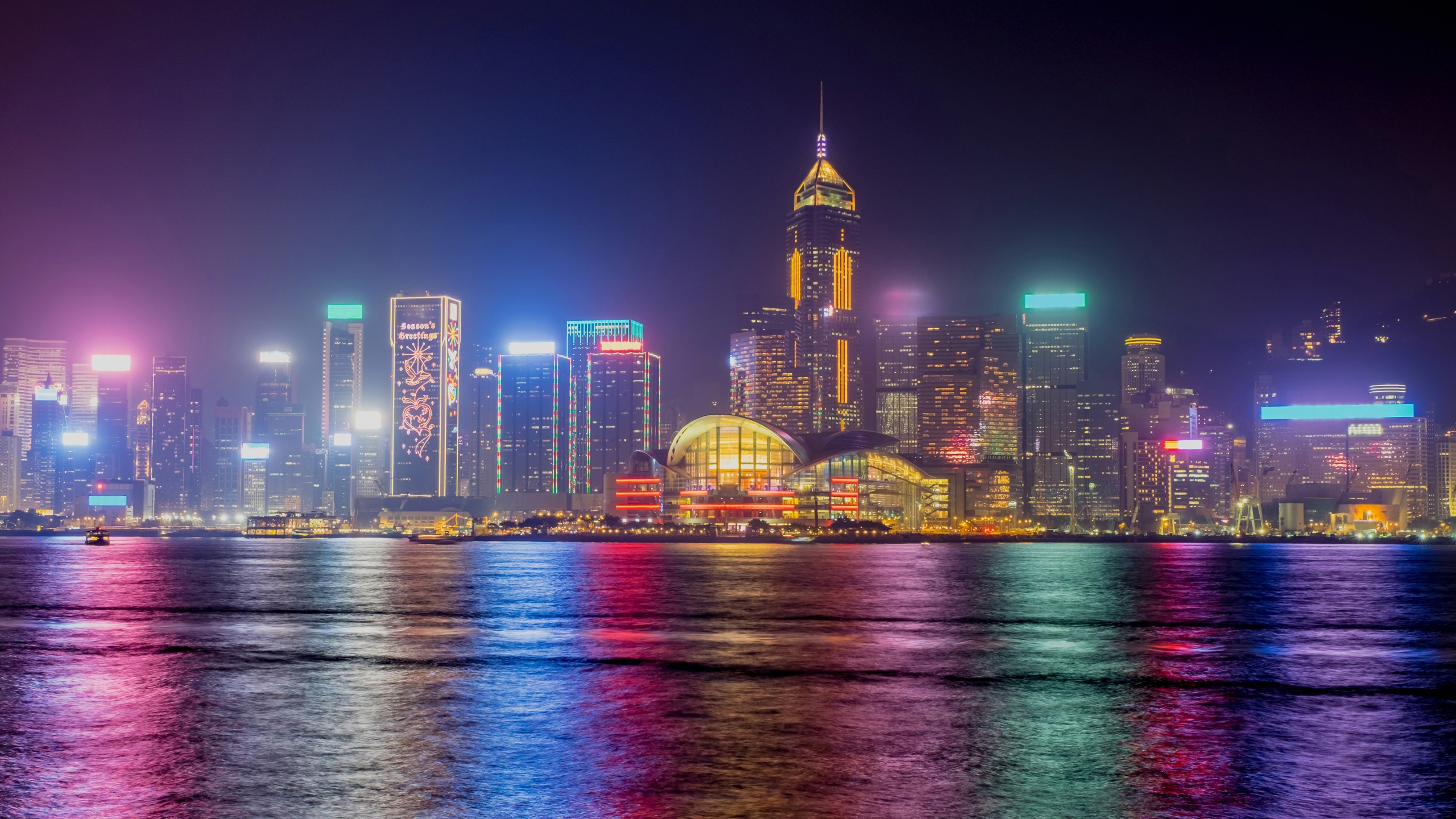 3d Wallpaper For Ipad 4 Hong Kong Nighscape 4k Wallpapers Hd Wallpapers Id 19774
