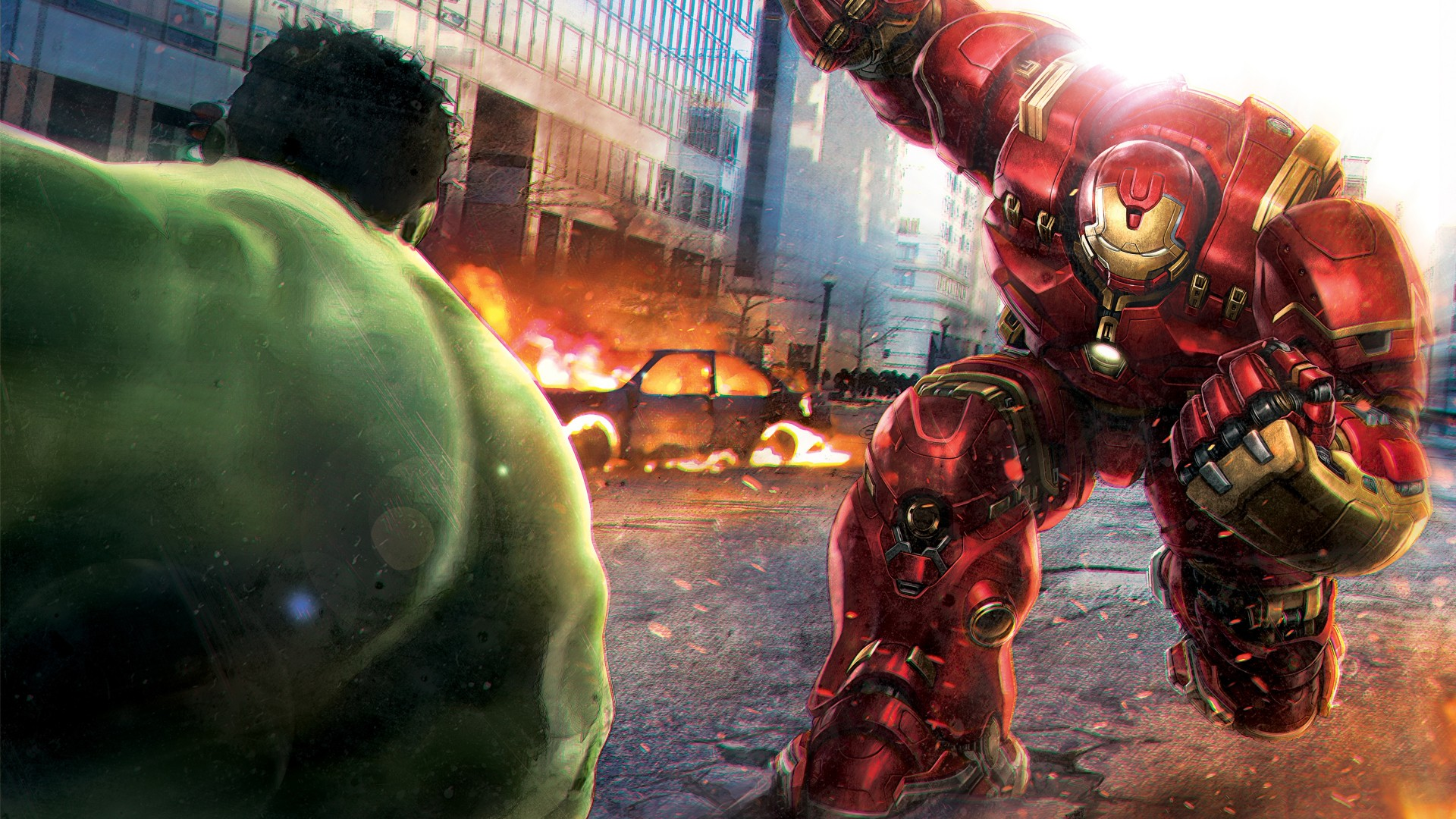 3d Wallpaper For Ipad 4 Hulk Vs Hulkbuster Wallpapers Hd Wallpapers Id 15635