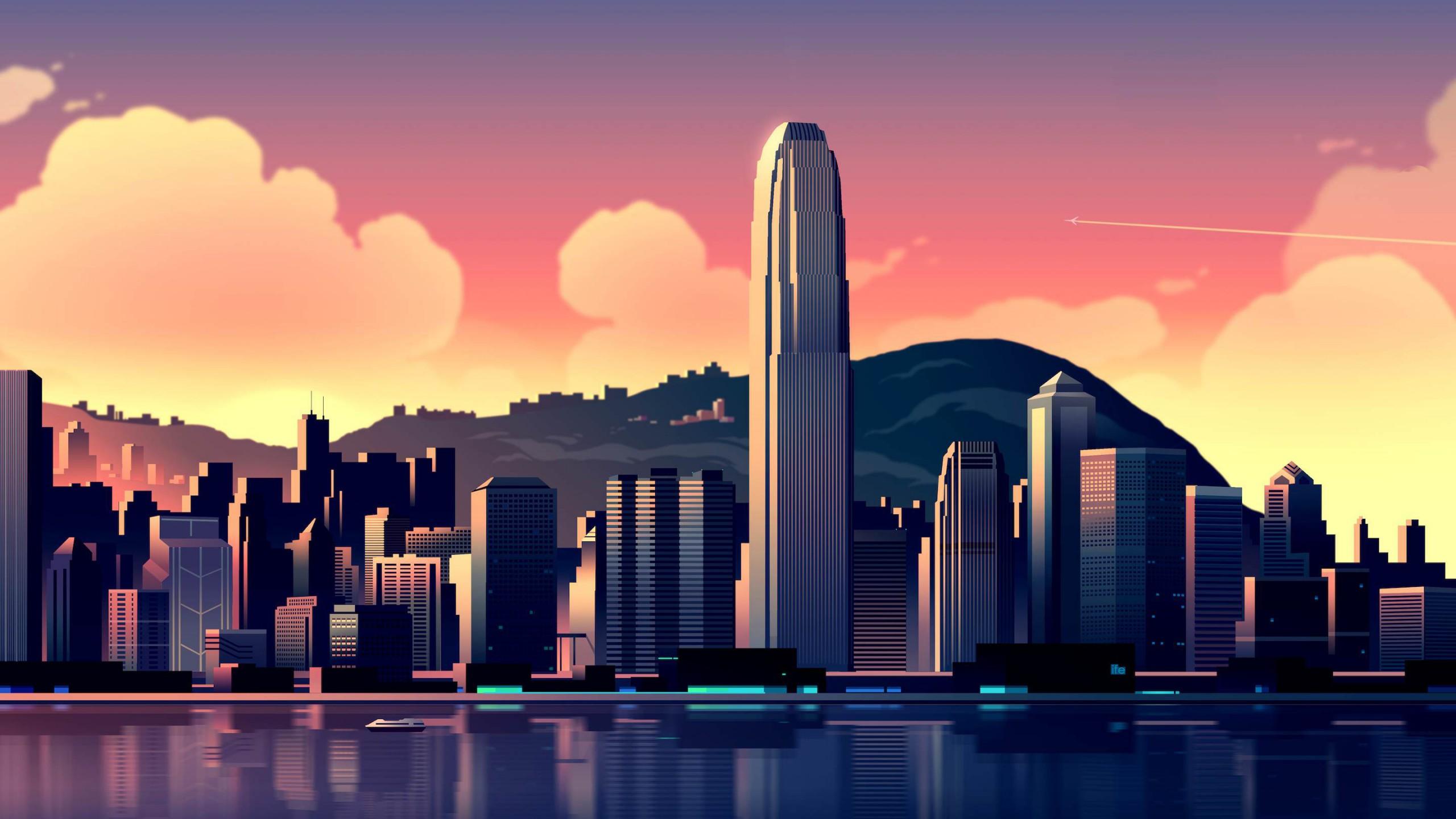 Hong Kong Iphone X Wallpaper International Finance Centre Hong Kong Wallpapers Hd