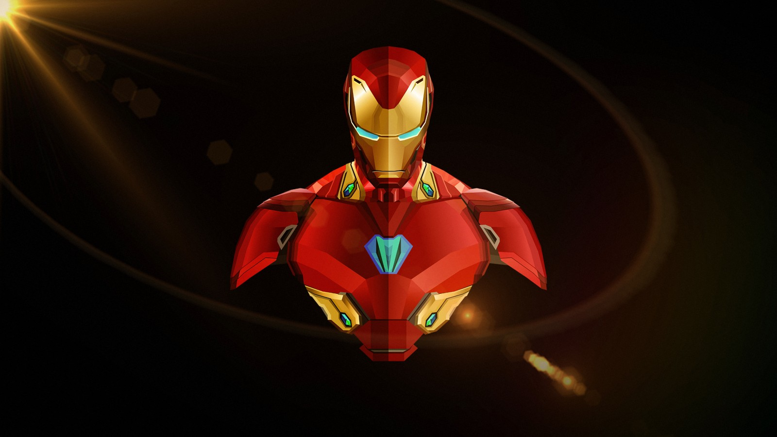 Pure Black Wallpaper Iron Man Avengers Infinity War Minimal Wallpapers Hd