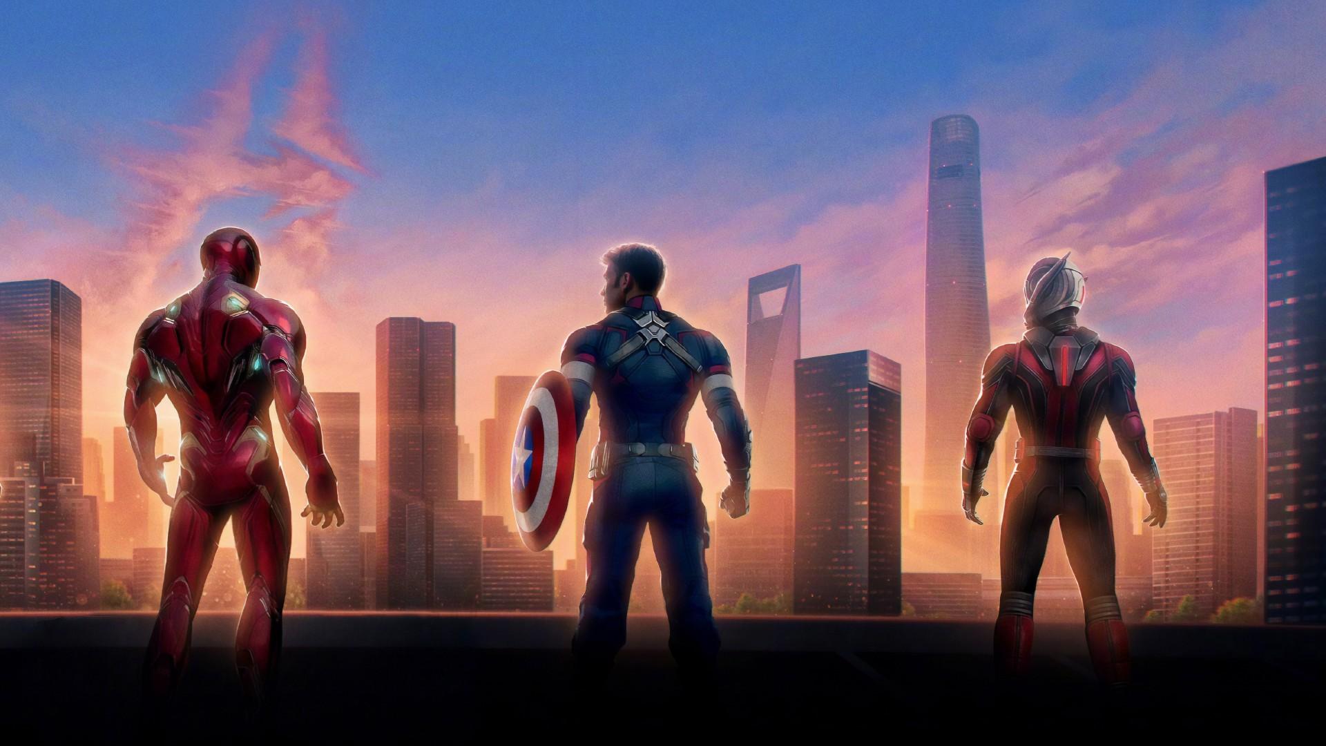 Iron Man 3d Wallpaper For Android Iron Man Captain America Ant Man In Avengers Endgame 4k 8k
