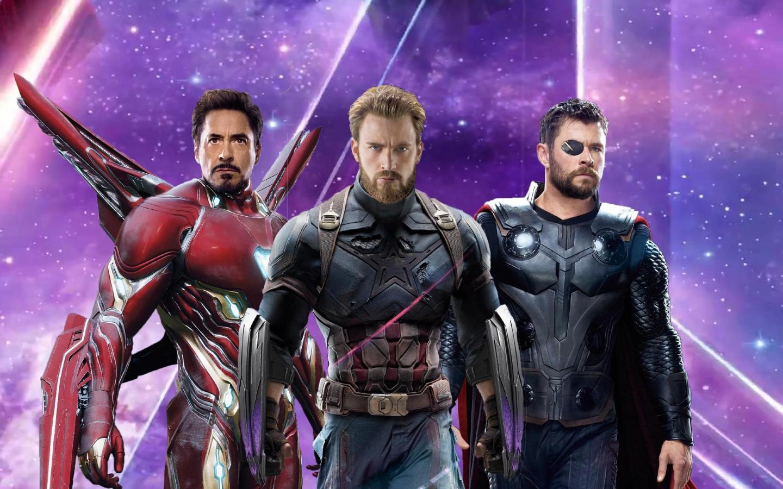 Desktop Wallpaper Windows 7 3d Iron Man Captain America Thor In Avengers Infinity War