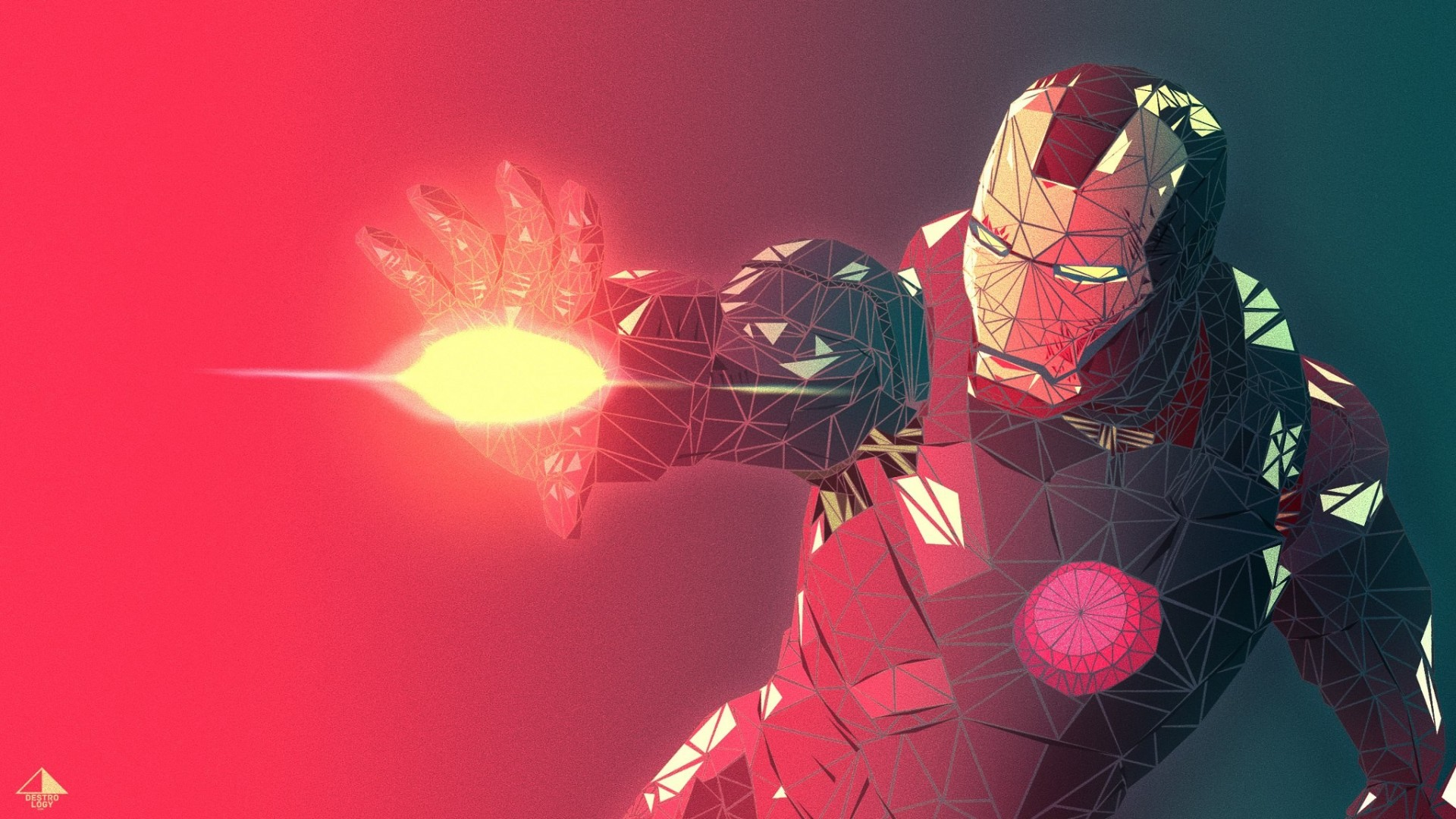 Low Poly Iphone X Wallpaper Iron Man Low Poly Wallpapers Hd Wallpapers Id 22399