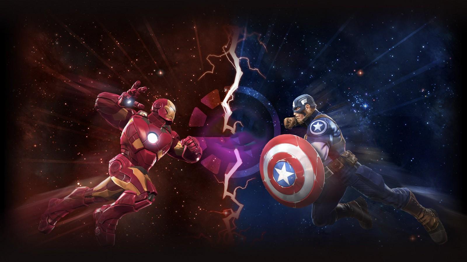 Free Download Wallpaper Naruto Shippuden 3d Iron Man Vs Captain America Artwork Wallpapers Hd