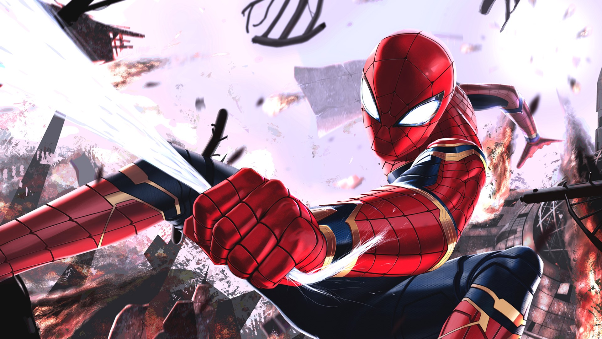 Iron Man 3d Wallpaper Android Iron Spider Wallpapers Hd Wallpapers Id 24371