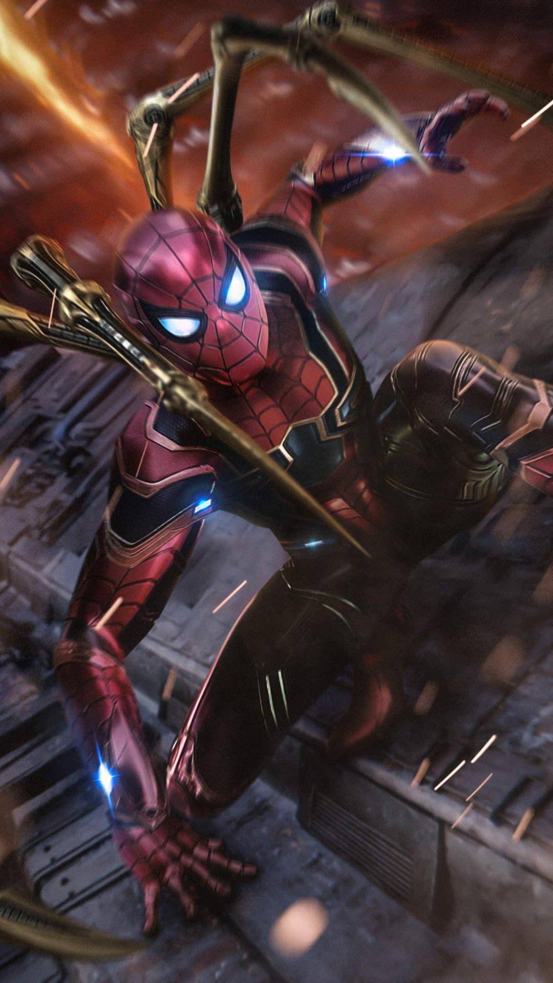 Avengers 3d Wallpaper For Android Iron Spider Fan Art Wallpapers Hd Wallpapers Id 26342