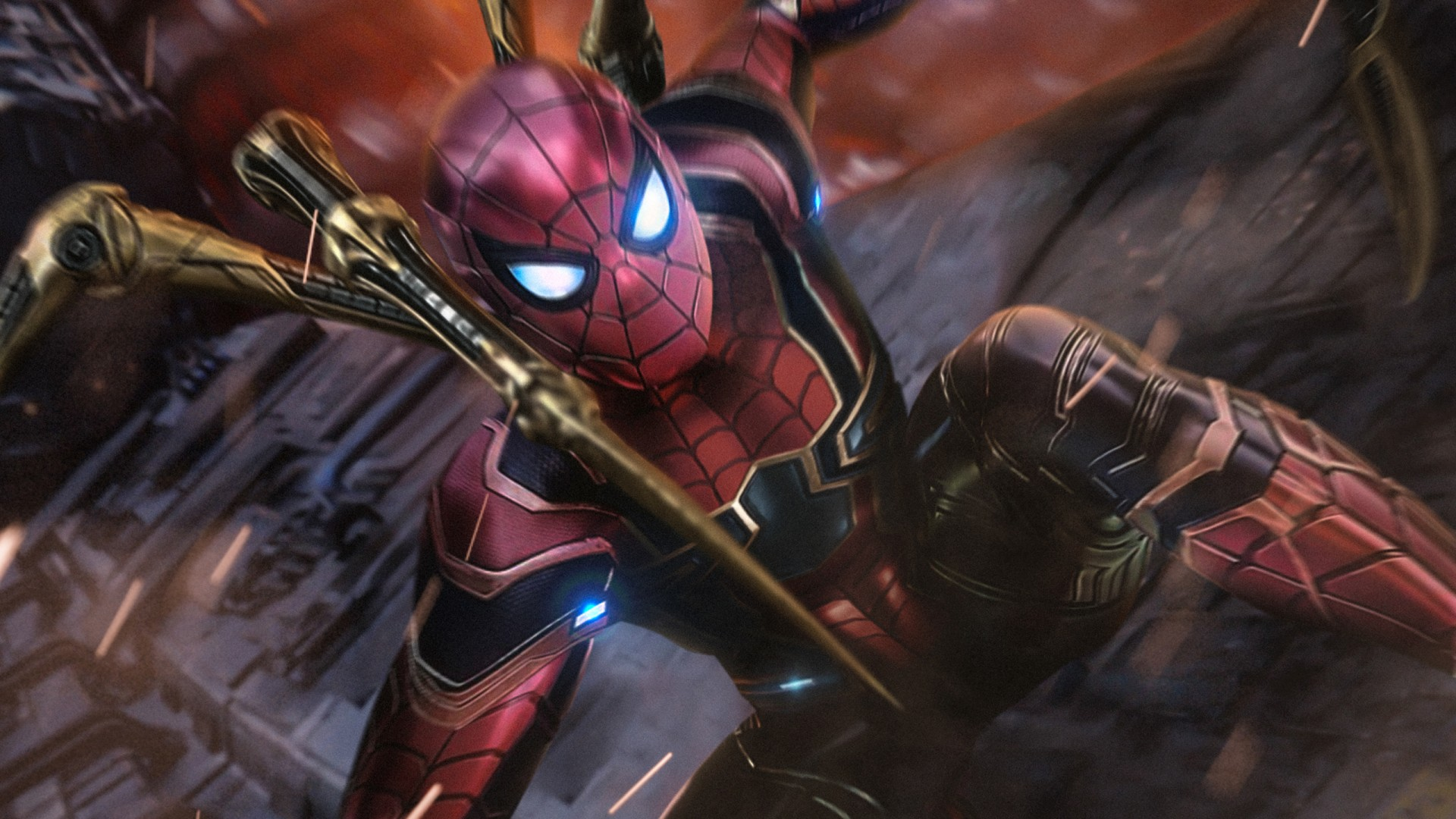 Iphone 5 Space Wallpaper Hd Iron Spider Fan Art Wallpapers Hd Wallpapers Id 26342
