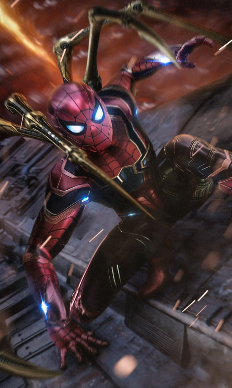 Spiderman Wallpaper 3d Android Iron Spider Fan Art Wallpapers Hd Wallpapers Id 26342