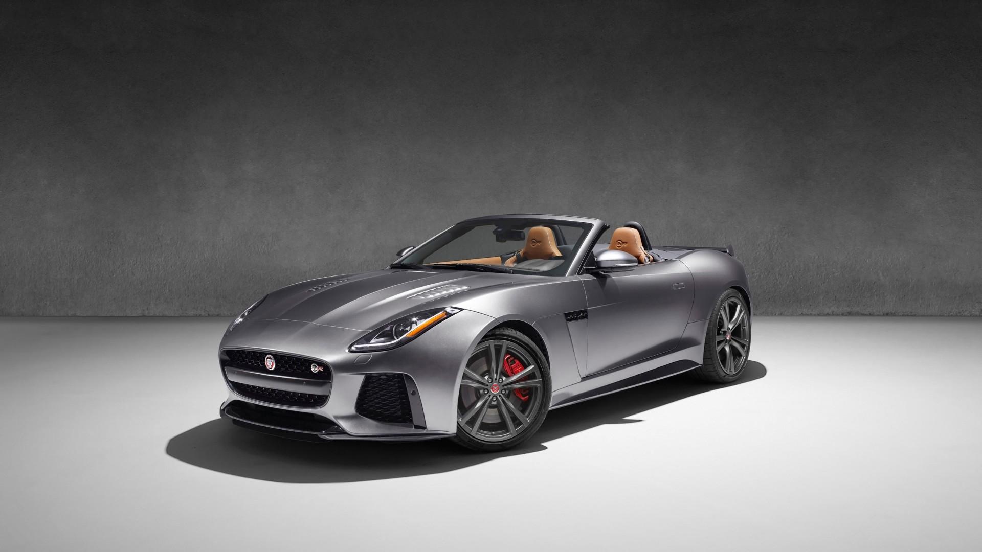 3d Silver Grey Wallpaper Jaguar F Type Svr Convertible 2017 Wallpapers Hd