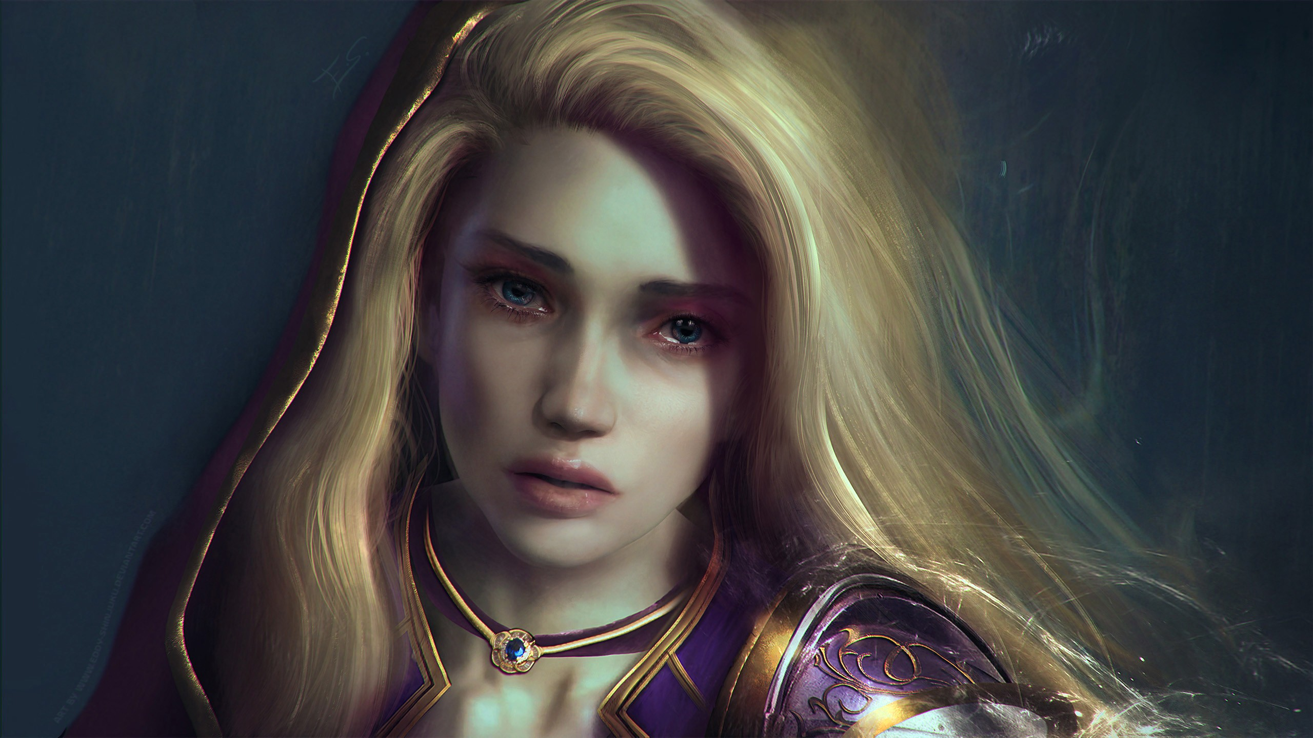 Girl Drawing Wallpaper For Iphone Jaina Proudmoore World Of Warcraft Wallpapers Hd