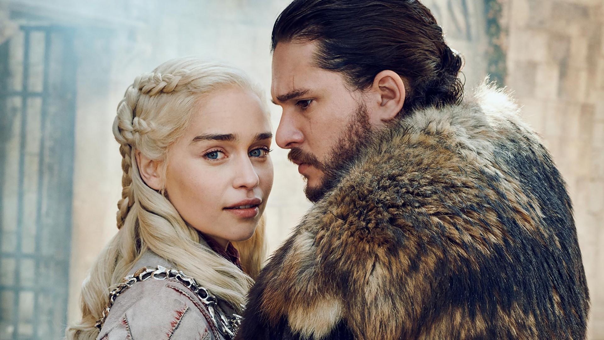 Cute Love Couple Kissing Wallpaper Jon Snow Daenerys Targaryen In Got Season 8 Wallpapers