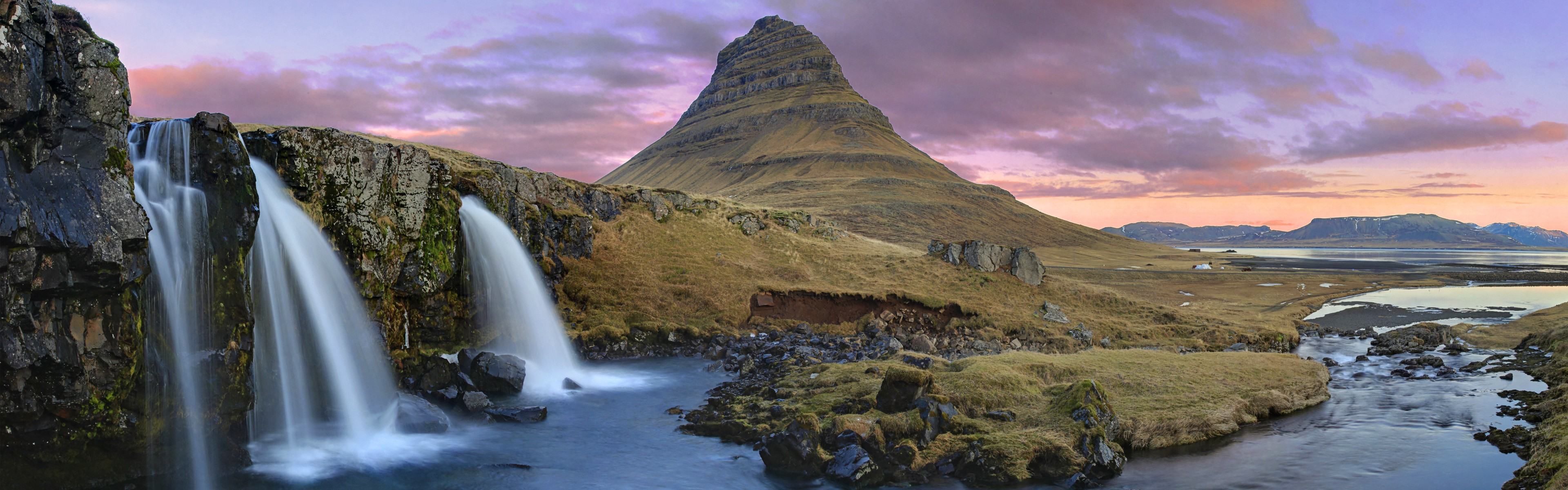 3d Wallpaper Widescreen Waterfalls Kirkjufell Mountain Waterfalls Iceland Wallpapers Hd
