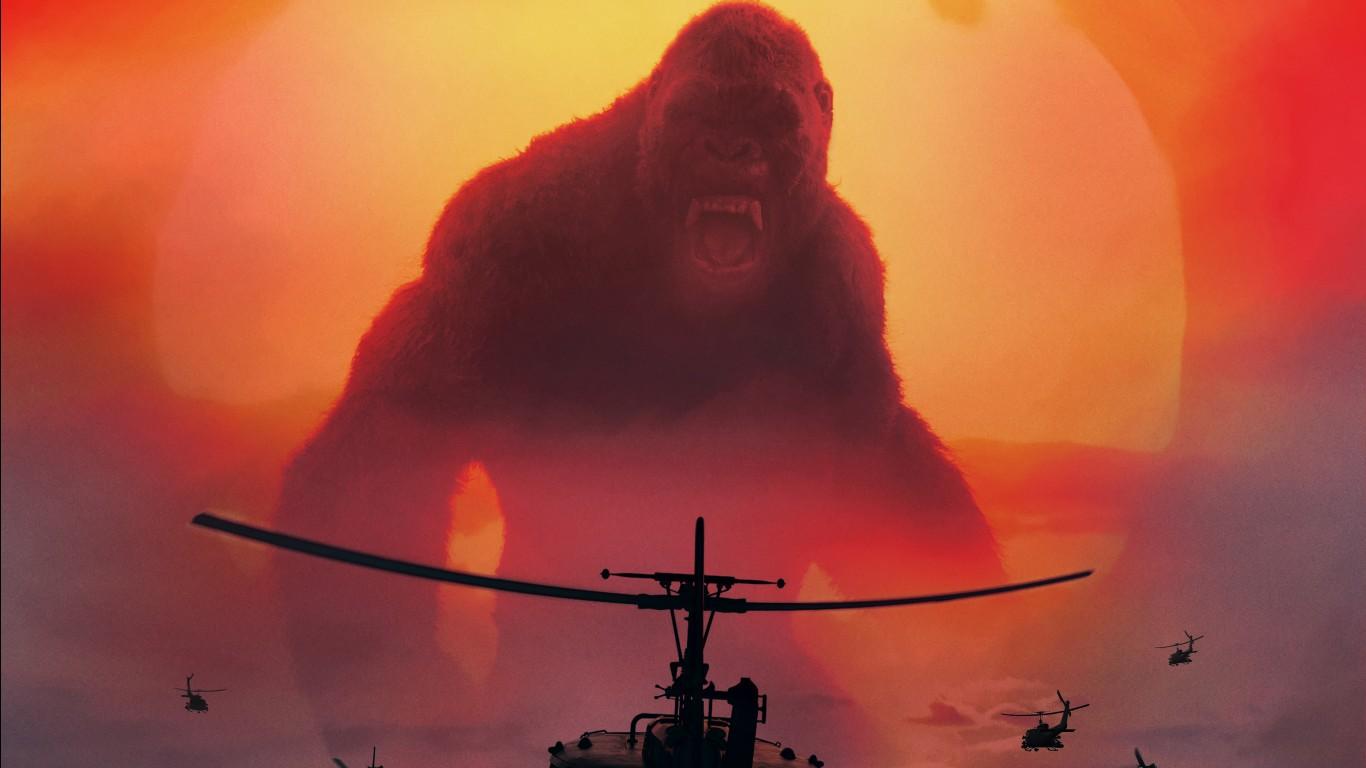 Deadpool Wallpaper Iphone 7 Kong Skull Island 2017 Movie 4k Wallpapers Hd Wallpapers