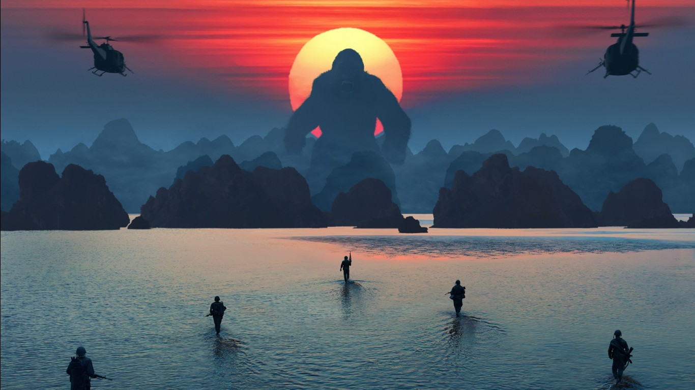 Cute Iphone 4 Wallpaper Kong Skull Island 4k Wallpapers Hd Wallpapers Id 19639