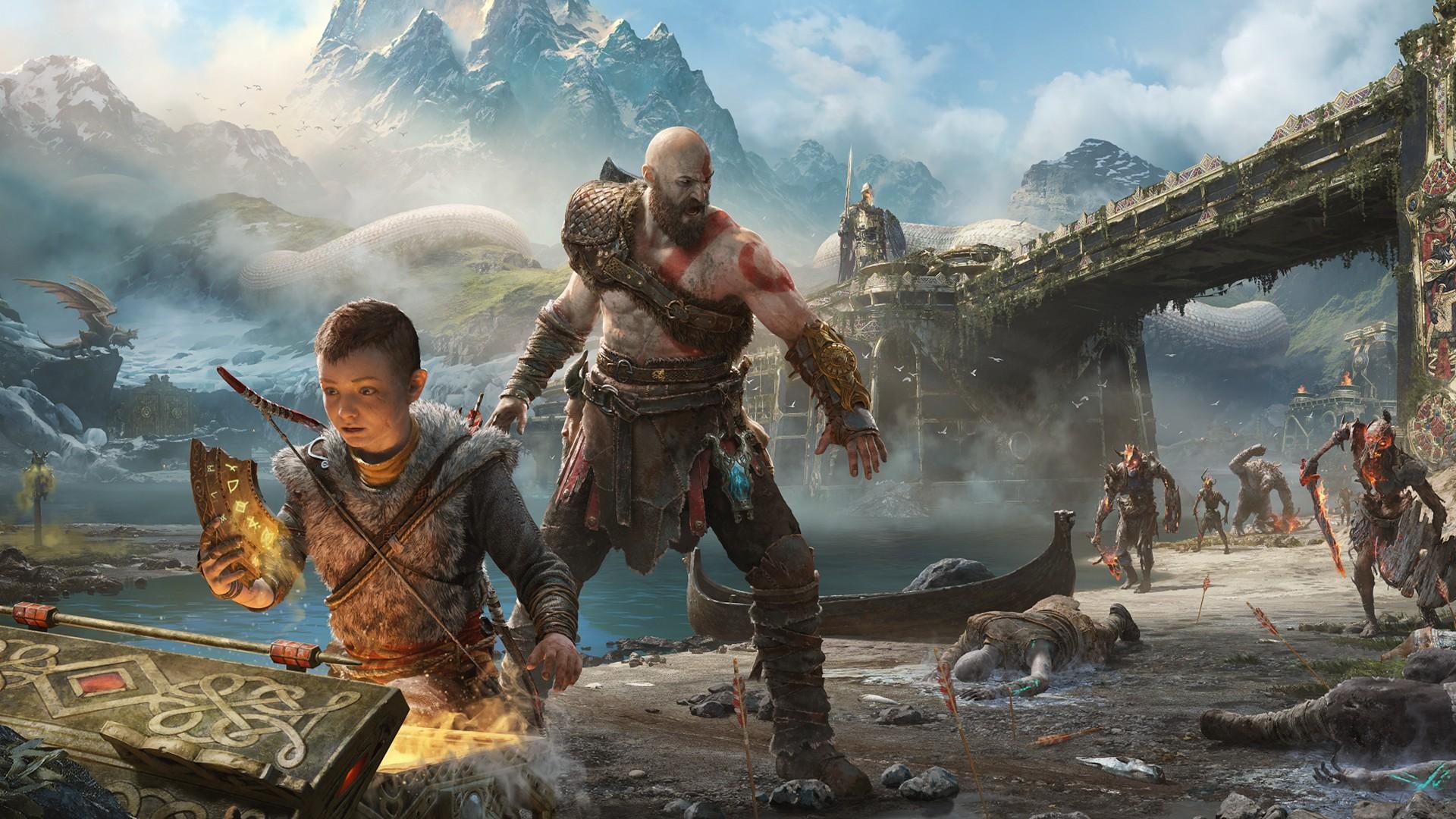 God Of War Wallpaper Hd 3d Download Kratos And Atreus In God Of War Wallpapers Hd Wallpapers