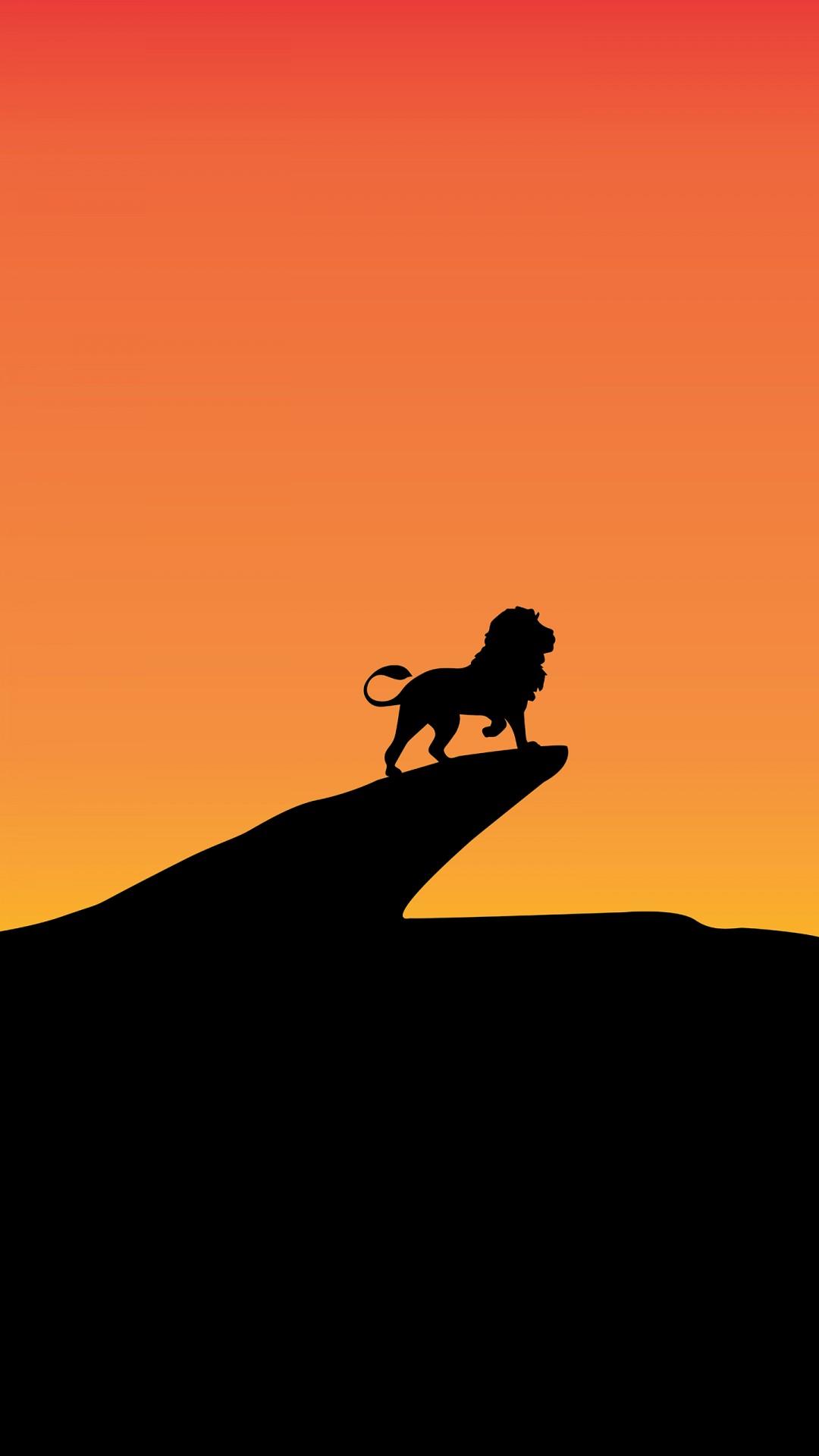 Lion Live Wallpaper Iphone Lion King Silhouette Minimal 4k 8k Wallpapers Hd
