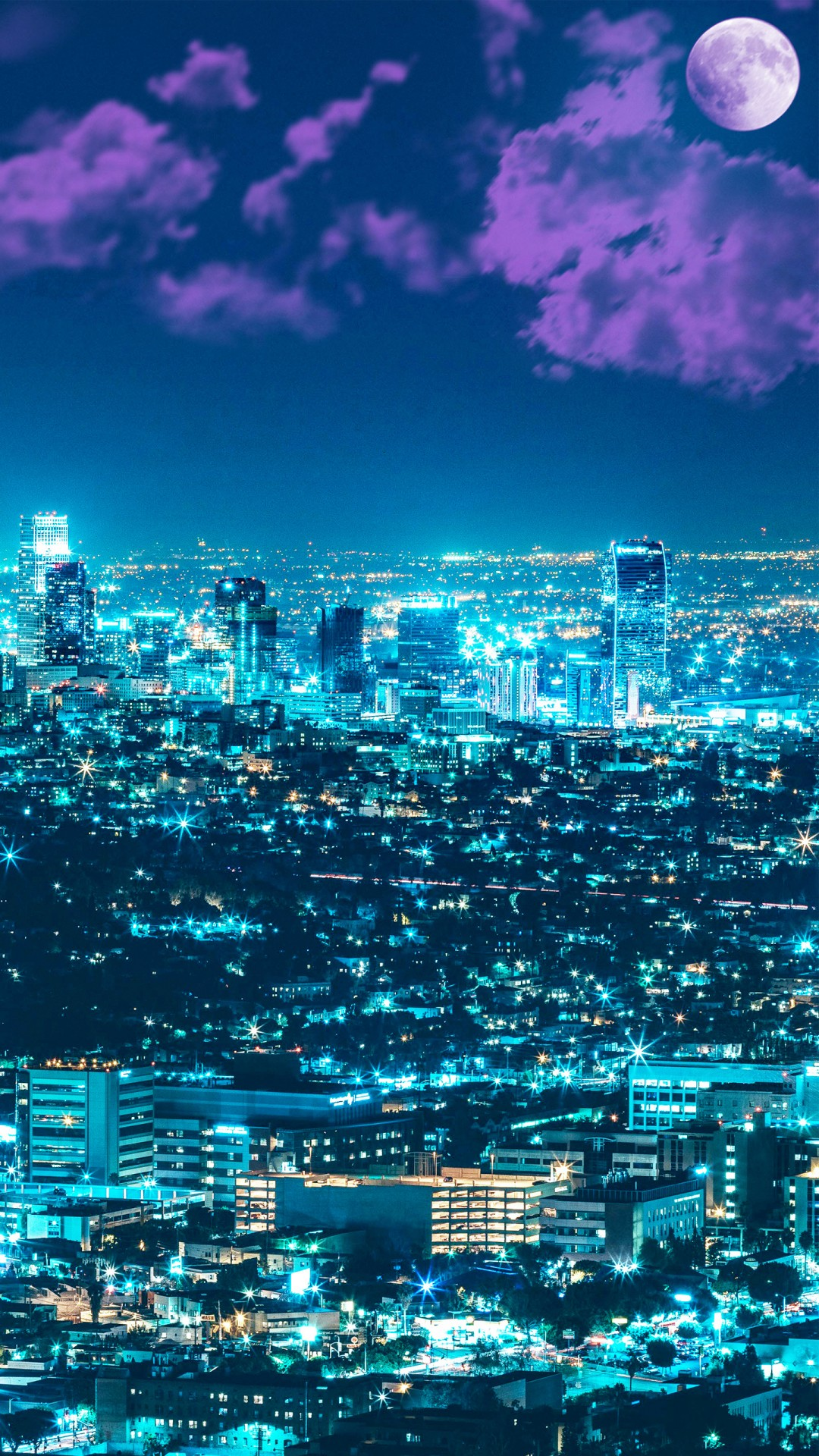 Los Angeles Wallpaper Iphone 6 Plus Los Angles Night Cityscape 4k Wallpapers Hd Wallpapers