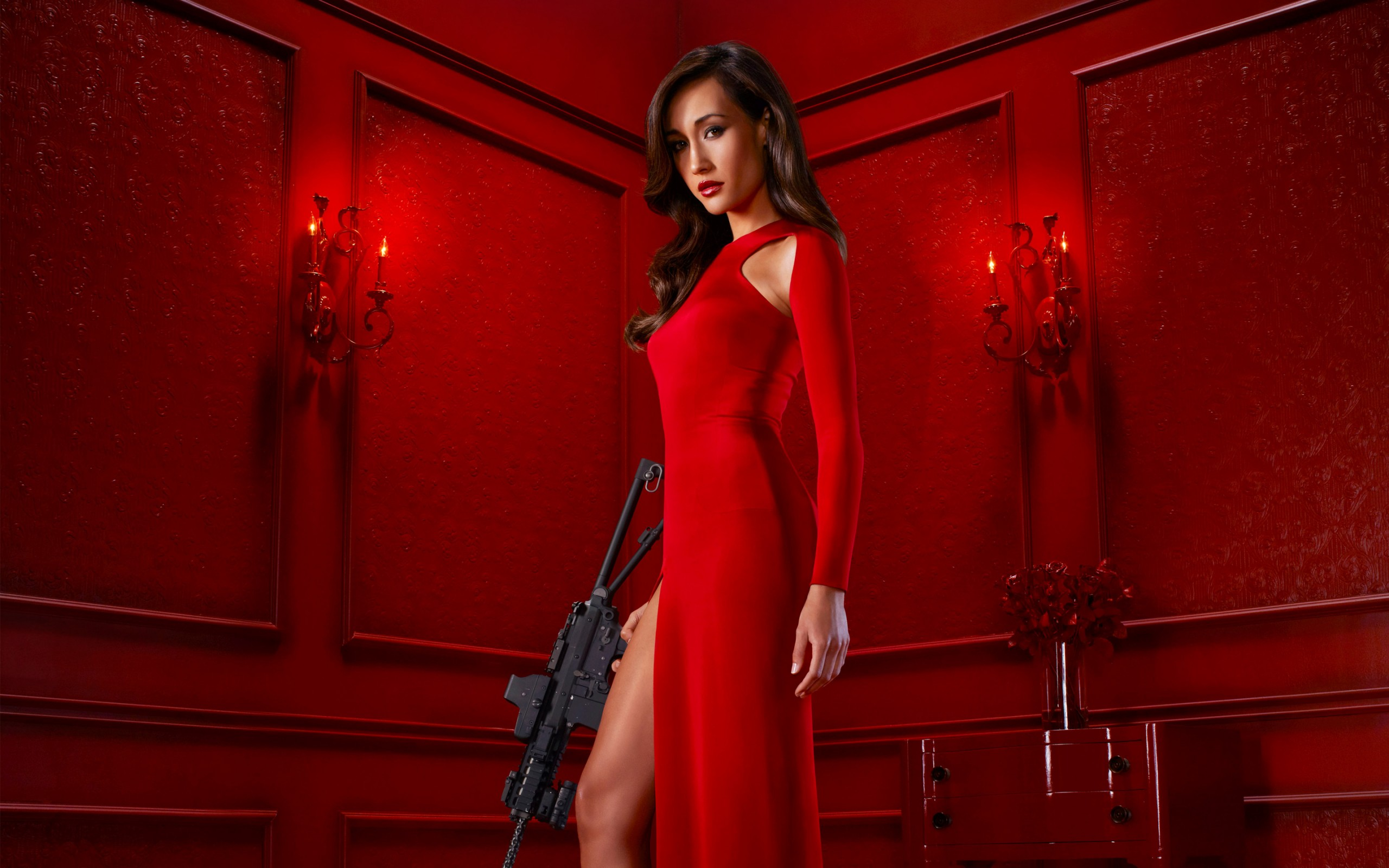 Girls With Guns Anime Wallpaper Maggie Q Nikita Movie Wallpapers Hd Wallpapers Id 17481
