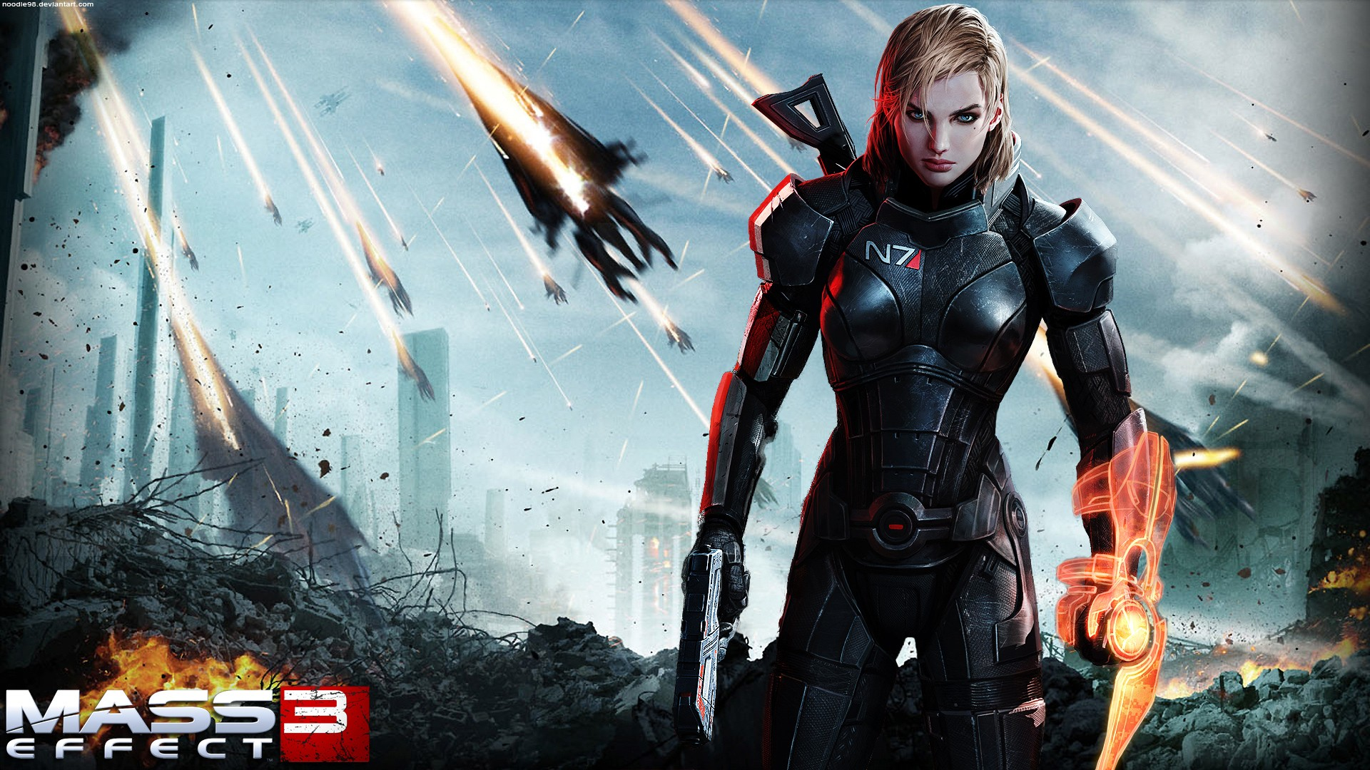 Android 3d Wallpaper Effect Mass Effect 3 Female Shepard Wallpapers Hd Wallpapers