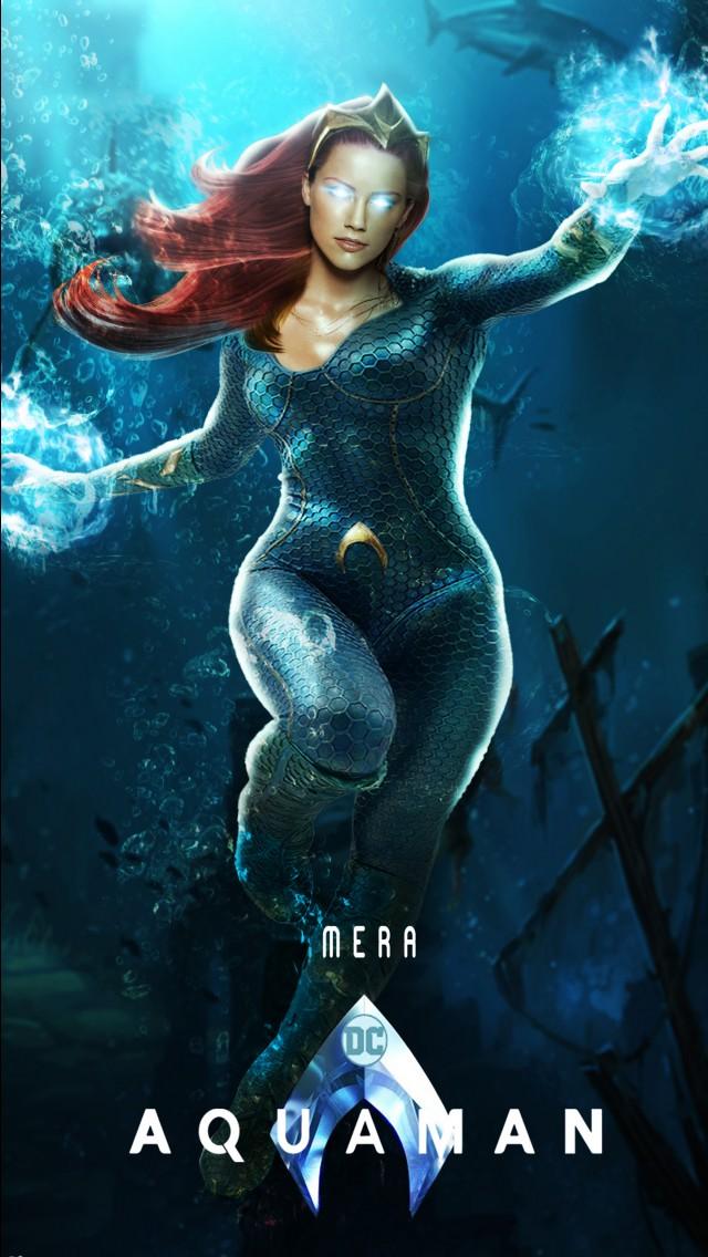 Wallpaper 3d Iphone 6 Plus Mera Amber Heard In Aquaman Wallpapers Hd Wallpapers