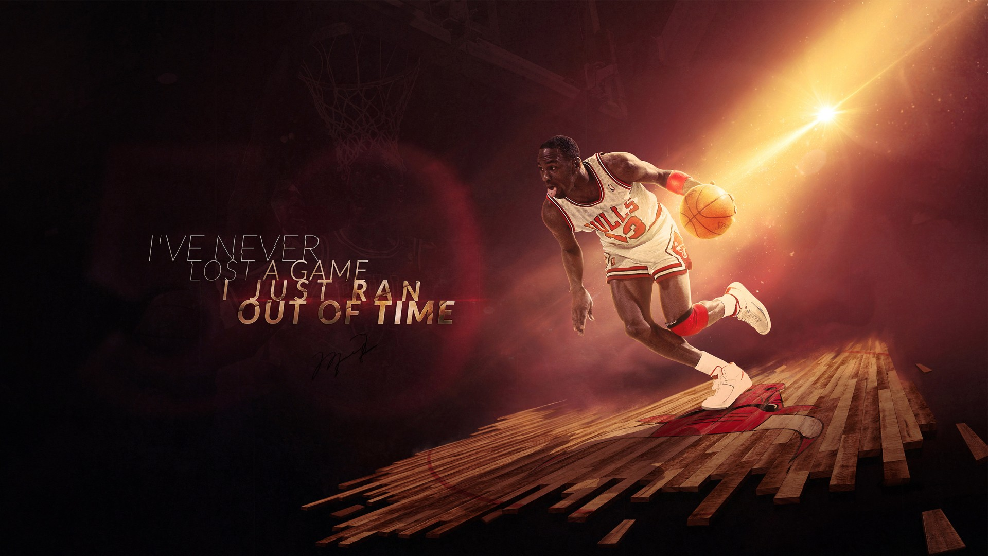 Neon Sign Iphone Wallpaper Michael Jordan Chicago Bulls Wallpapers Hd Wallpapers