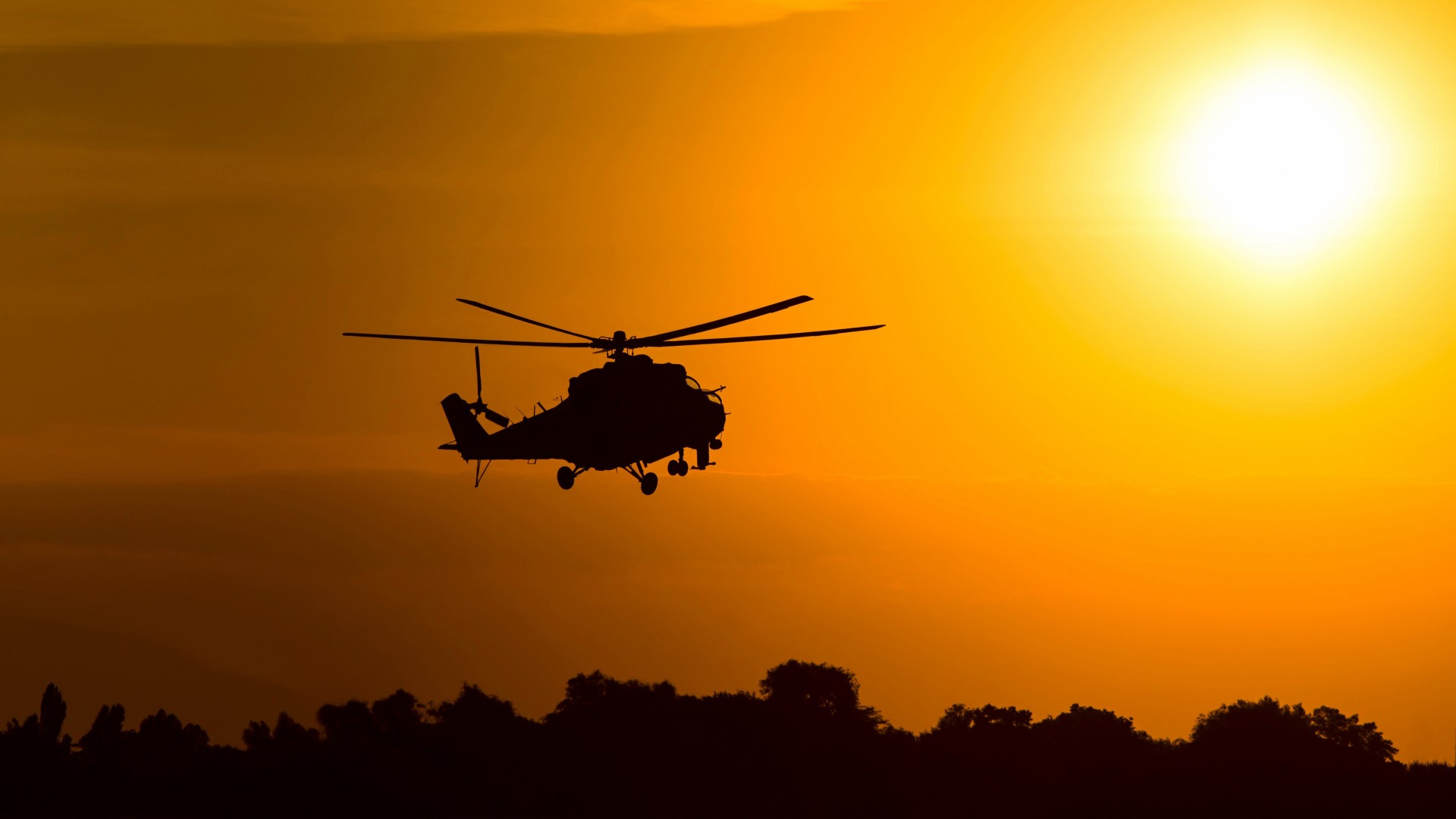 Iphone X Dynamic Wallpaper Download Mil Mi 2 Attack Helicopter Silhouette 4k Wallpapers Hd