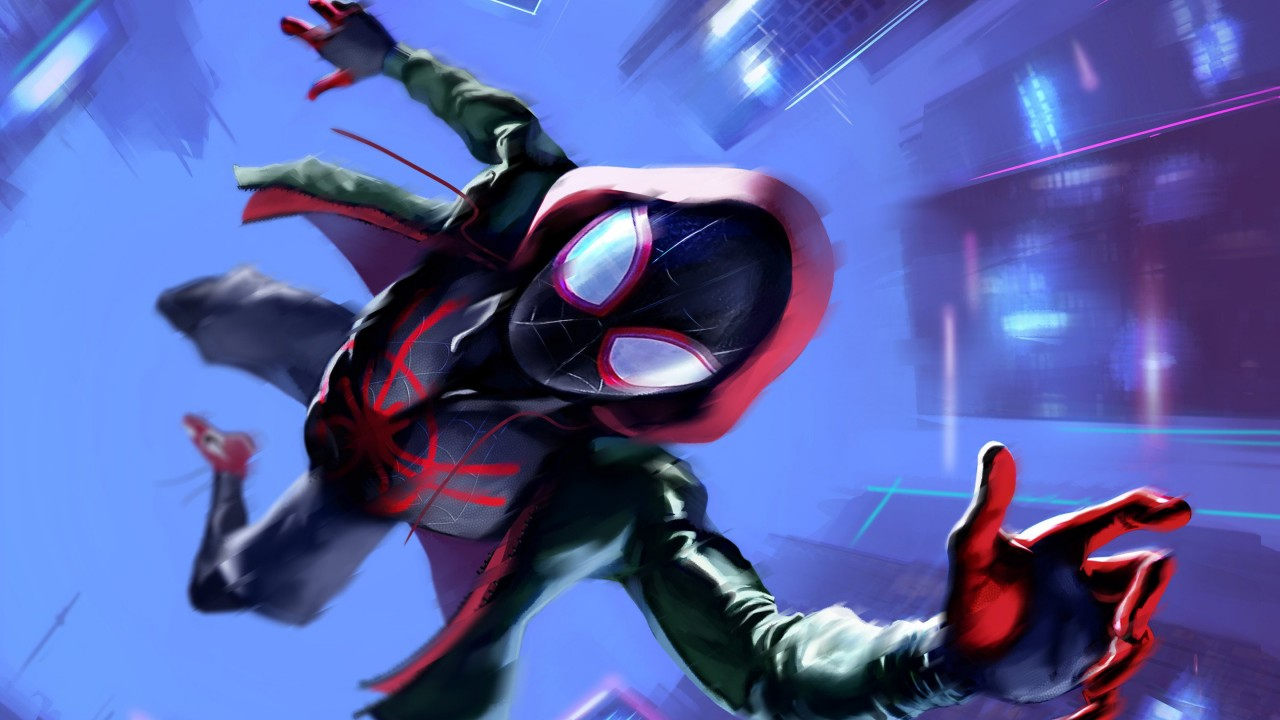 Fall Beach Widescreen Wallpaper Miles Morales In Spider Man Into The Spider Verse