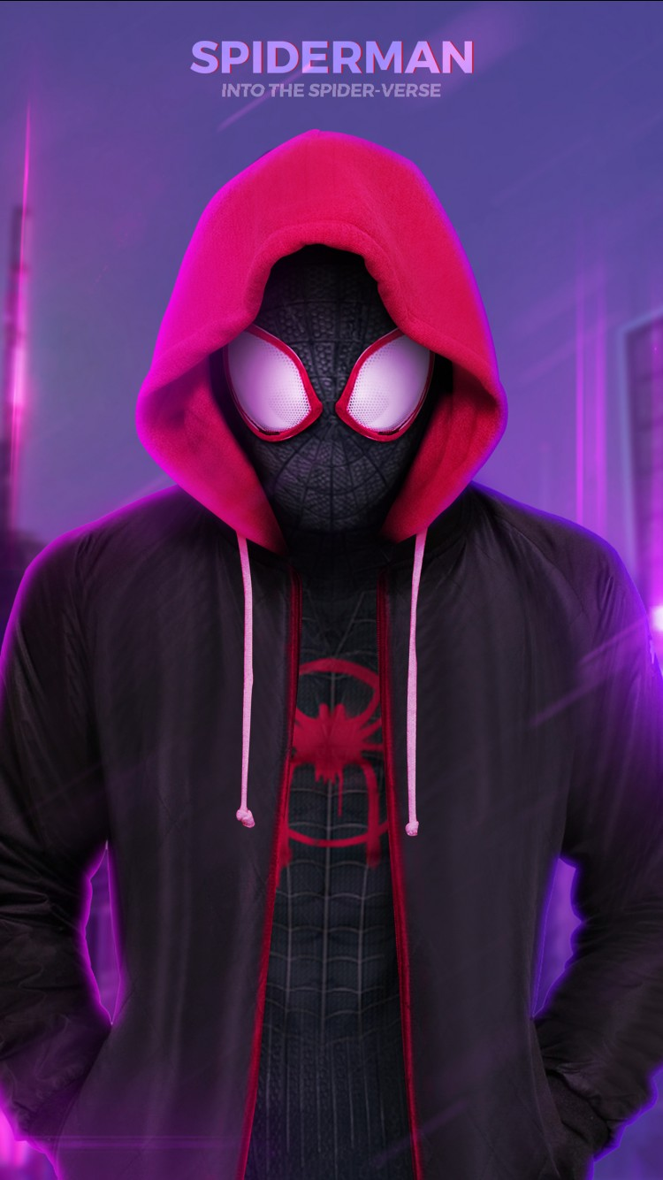 Iphone X Motion Wallpaper Miles Morales Spider Man Into The Spider Verse Wallpapers