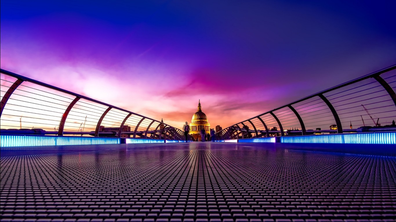 3d Wallpapers For Windows 8 Hd Free Download Millennium Bridge London Wallpapers Hd Wallpapers Id