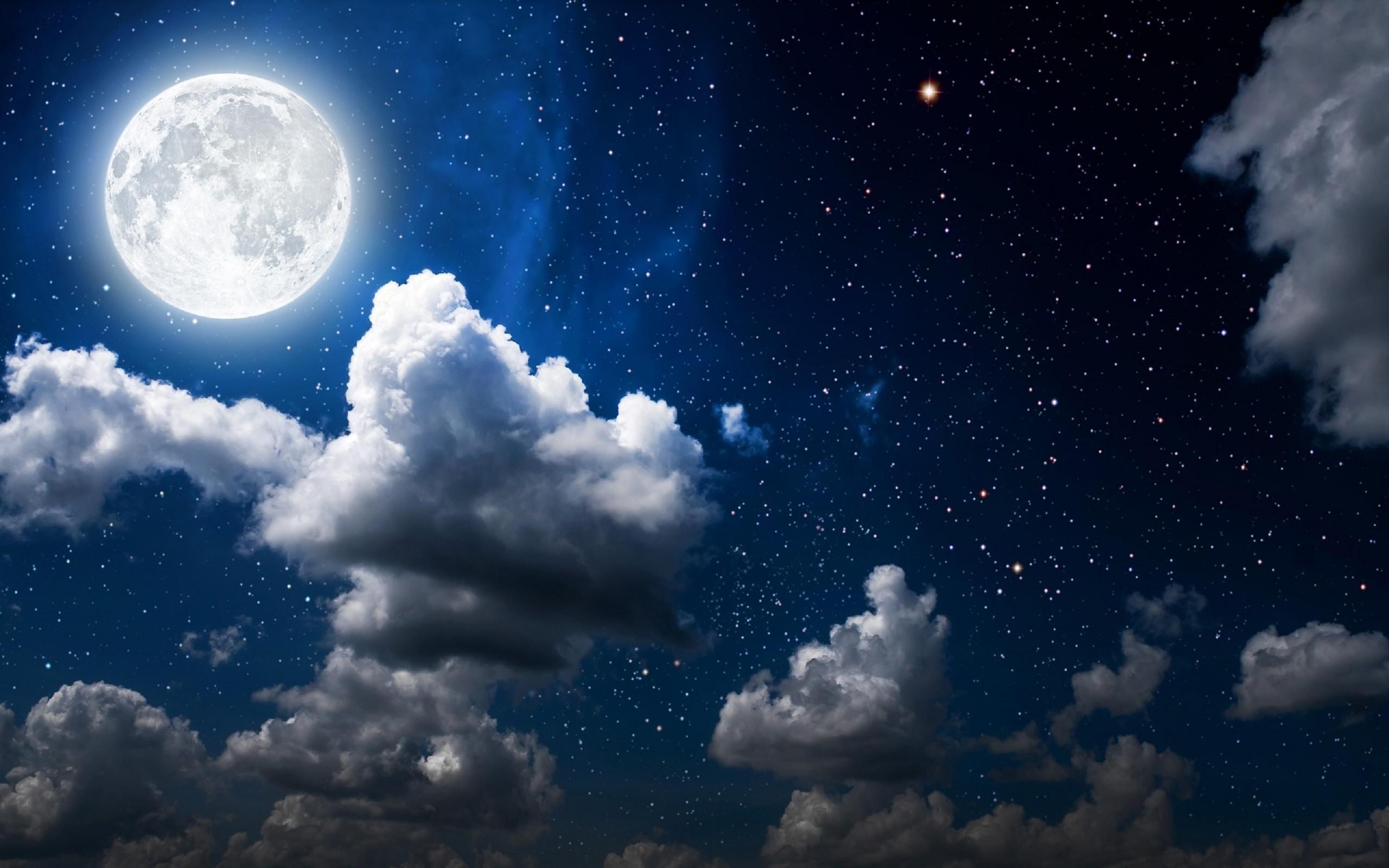 Beautiful 3d Love Wallpapers Moon Clouds Dark Sky Wallpapers Hd Wallpapers Id 18374