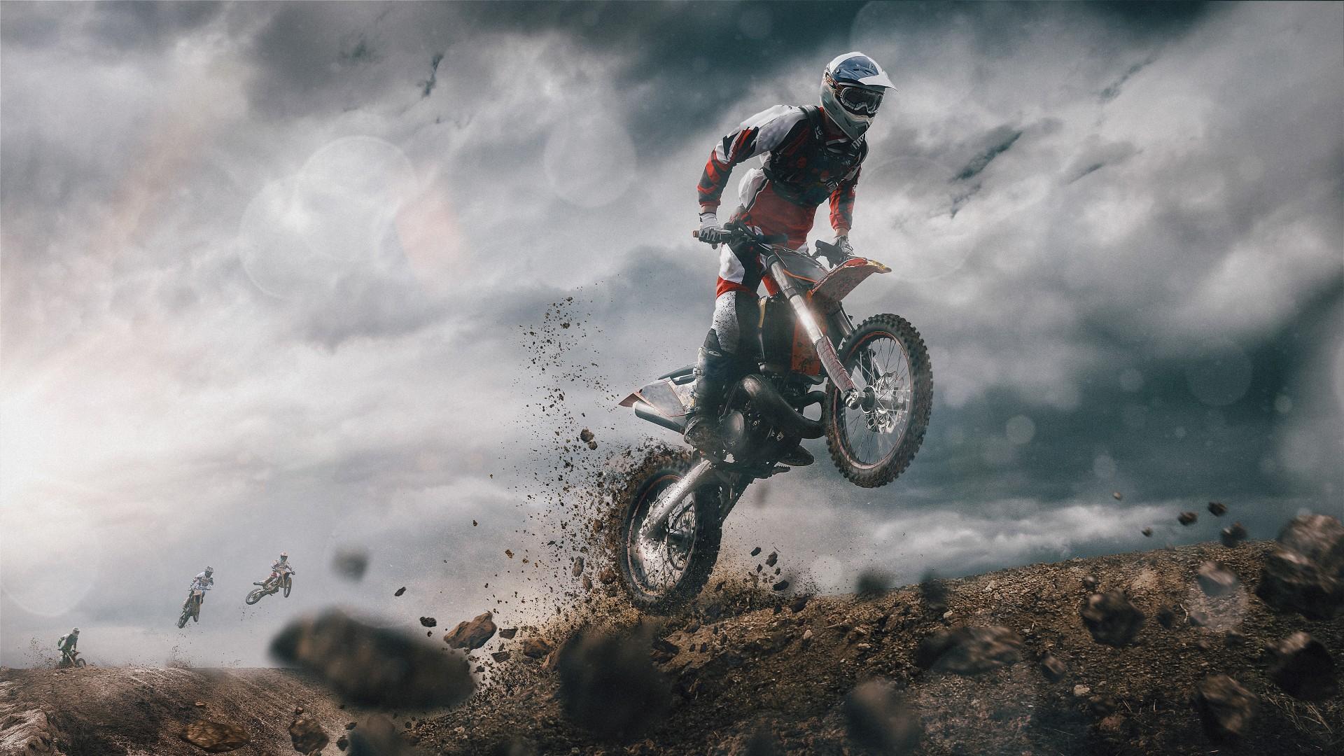 Bike Girl Iphone Wallpaper Motocross 4k Wallpapers Hd Wallpapers Id 22707