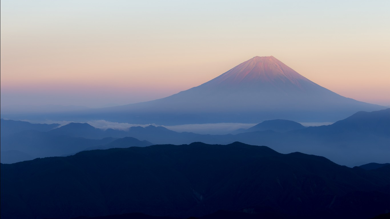 3d Wallpaper For Ipad Retina Mount Fuji Japan 4k Wallpapers Hd Wallpapers Id 21755