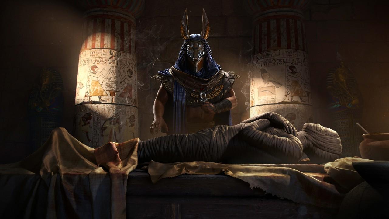 God Of War D Mummy Assassins Creed Origins 4k 8k Wallpapers Hd