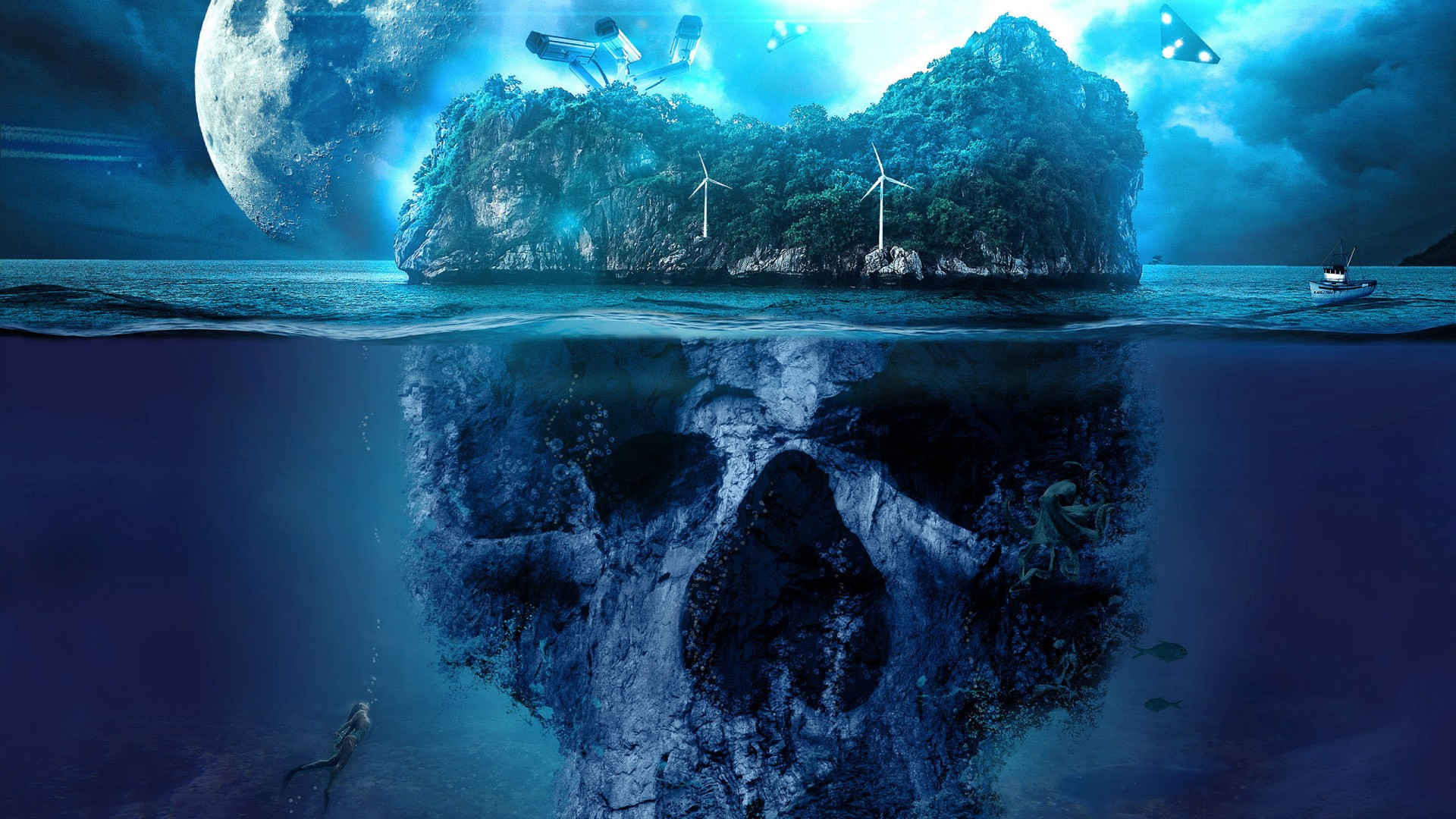 3d Android Wallpaper For Tablets Mystery Skull Island Wallpapers Hd Wallpapers Id 27263