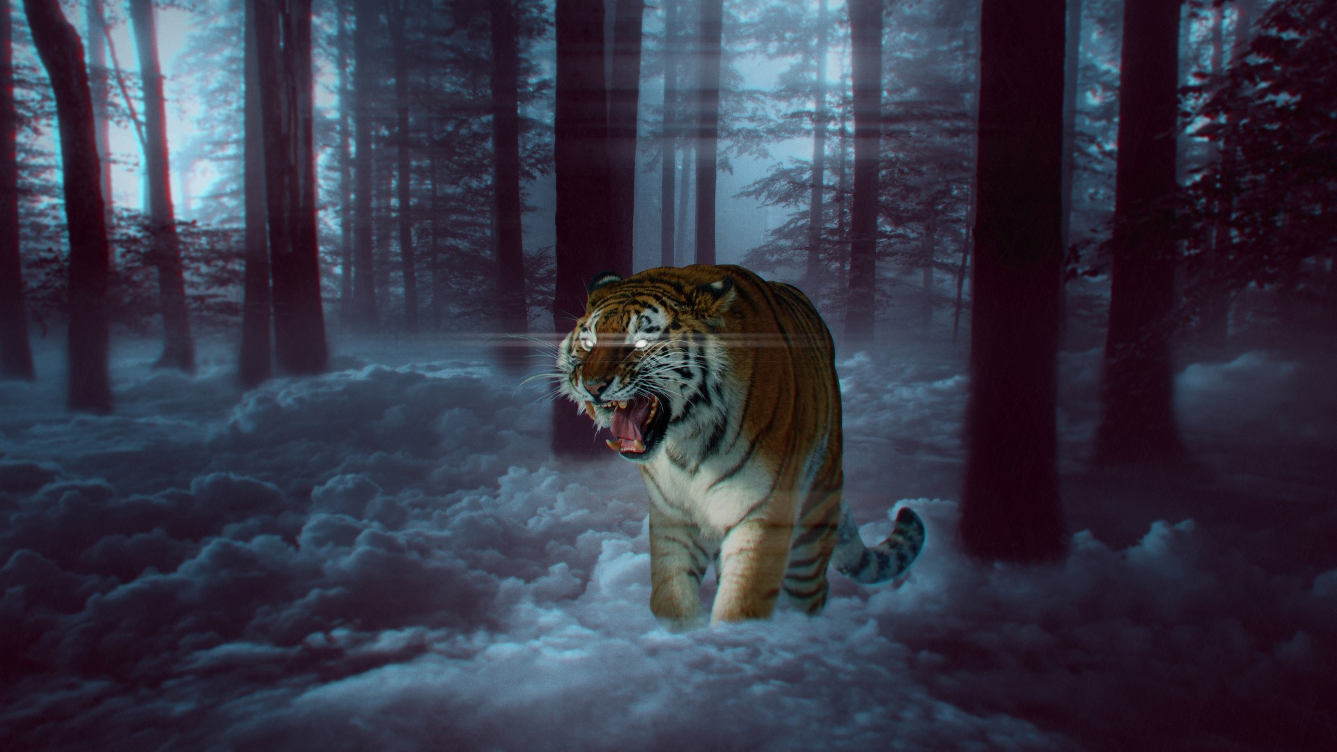 Anime Beach Wallpaper Mystic Tiger In Forest 4k 8k Wallpapers Hd Wallpapers