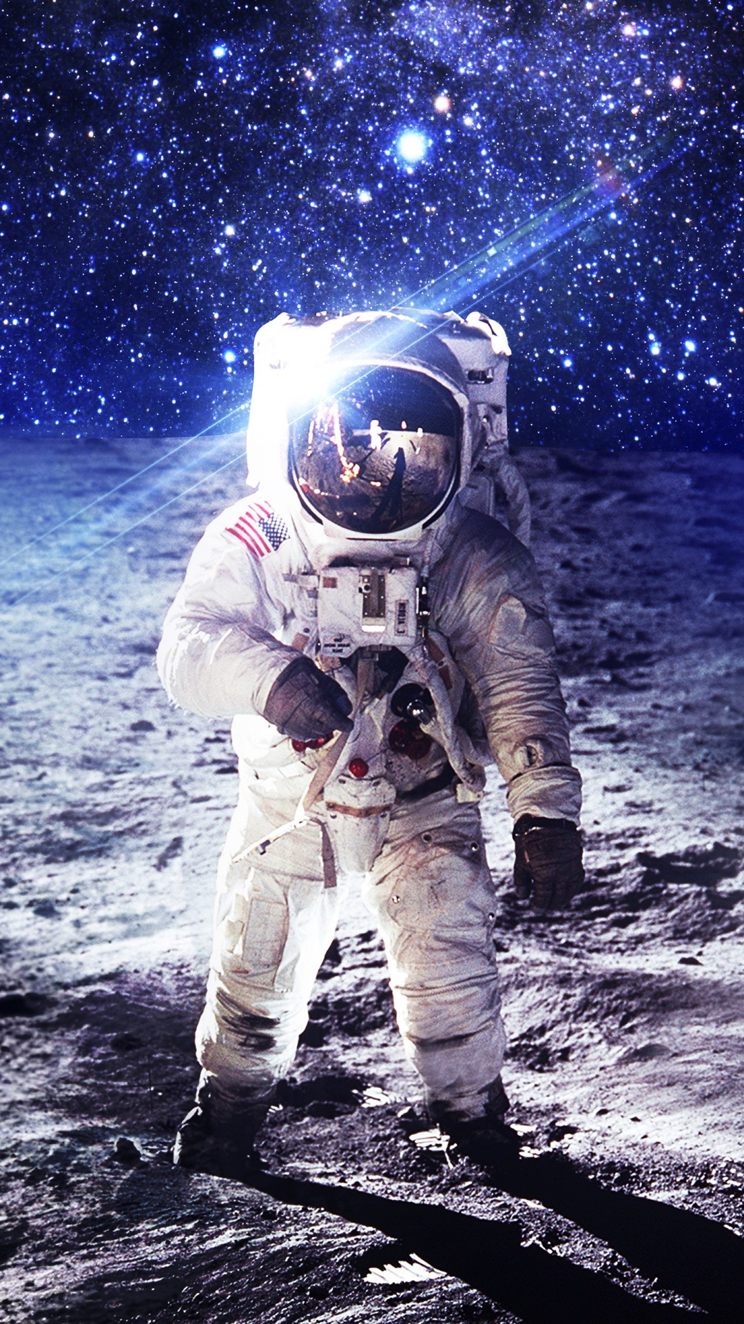 Astronaut Iphone Wallpaper Nasa Astronaut On Moon 4k Wallpapers Hd Wallpapers Id