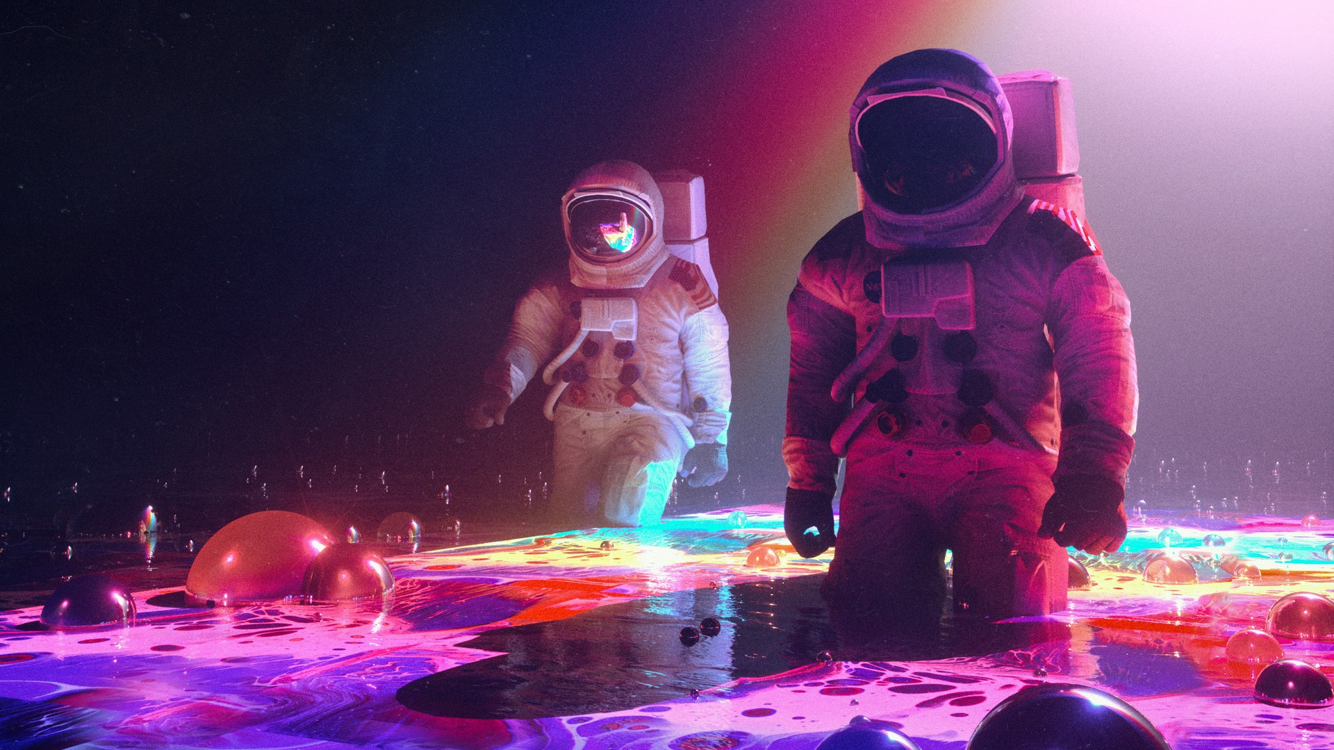 Windows 7 Original Wallpaper Hd Neon Astronauts Wallpapers Hd Wallpapers Id 24865