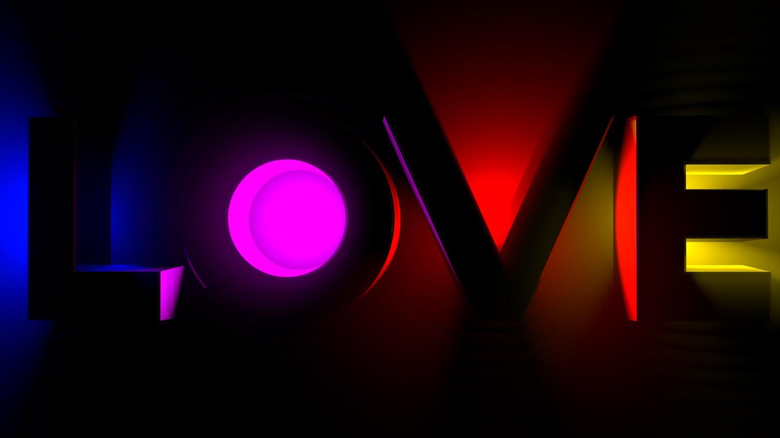 Cool 3d Ipad Wallpapers Neon Love 4k Wallpapers Hd Wallpapers Id 24854