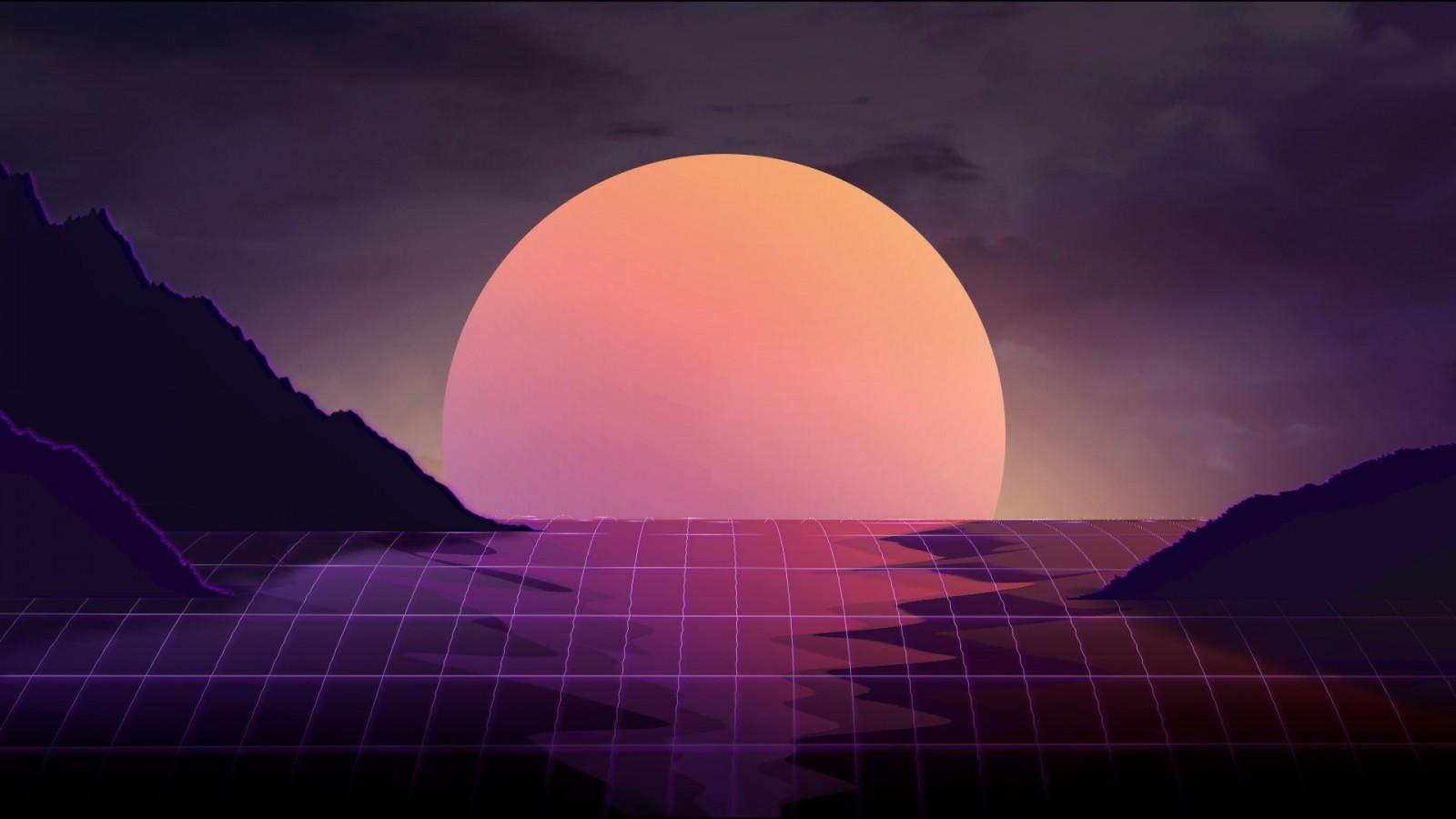 Cute Alien Wallpaper Iphone Neon Sunset Hd Wallpapers Hd Wallpapers Id 22902
