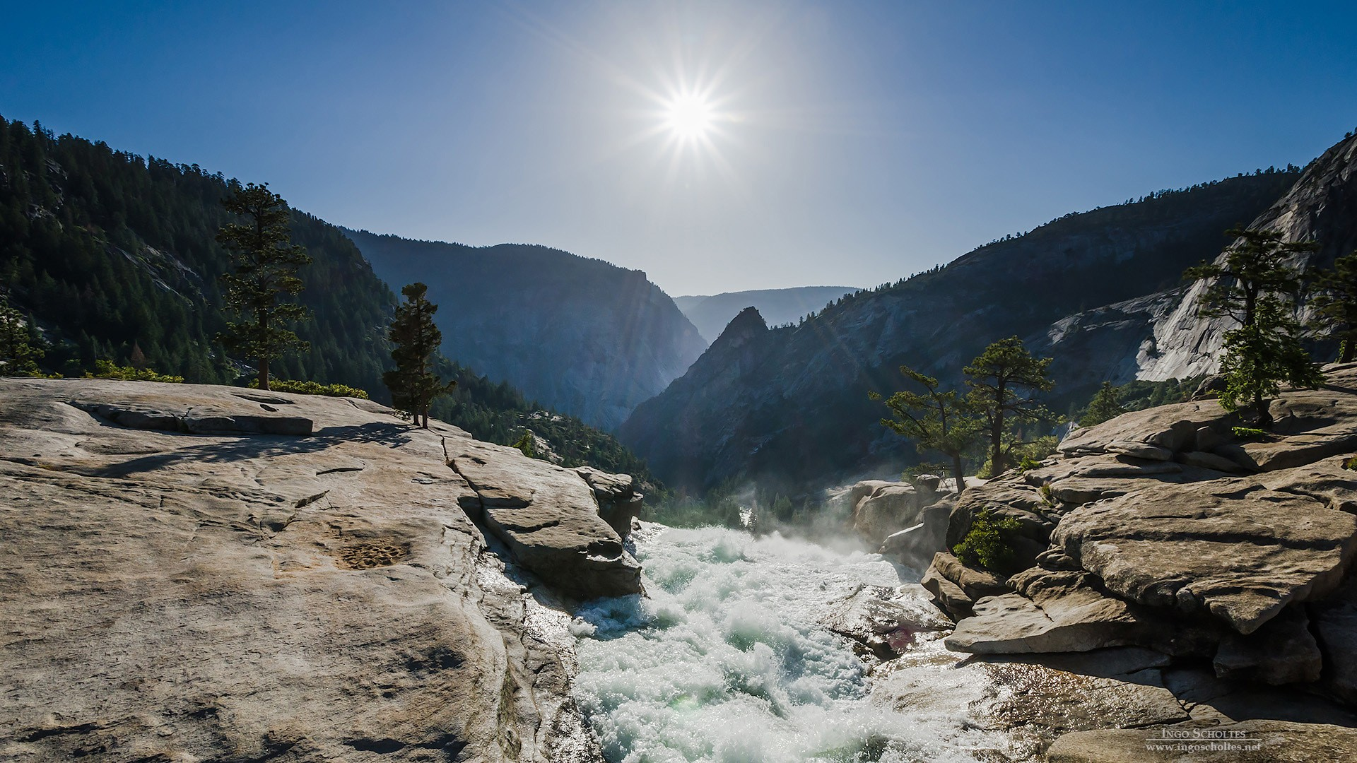 Fall Mountains Hd Wallpaper Pictures Nevada Fall Yosemite National Park Wallpapers Hd