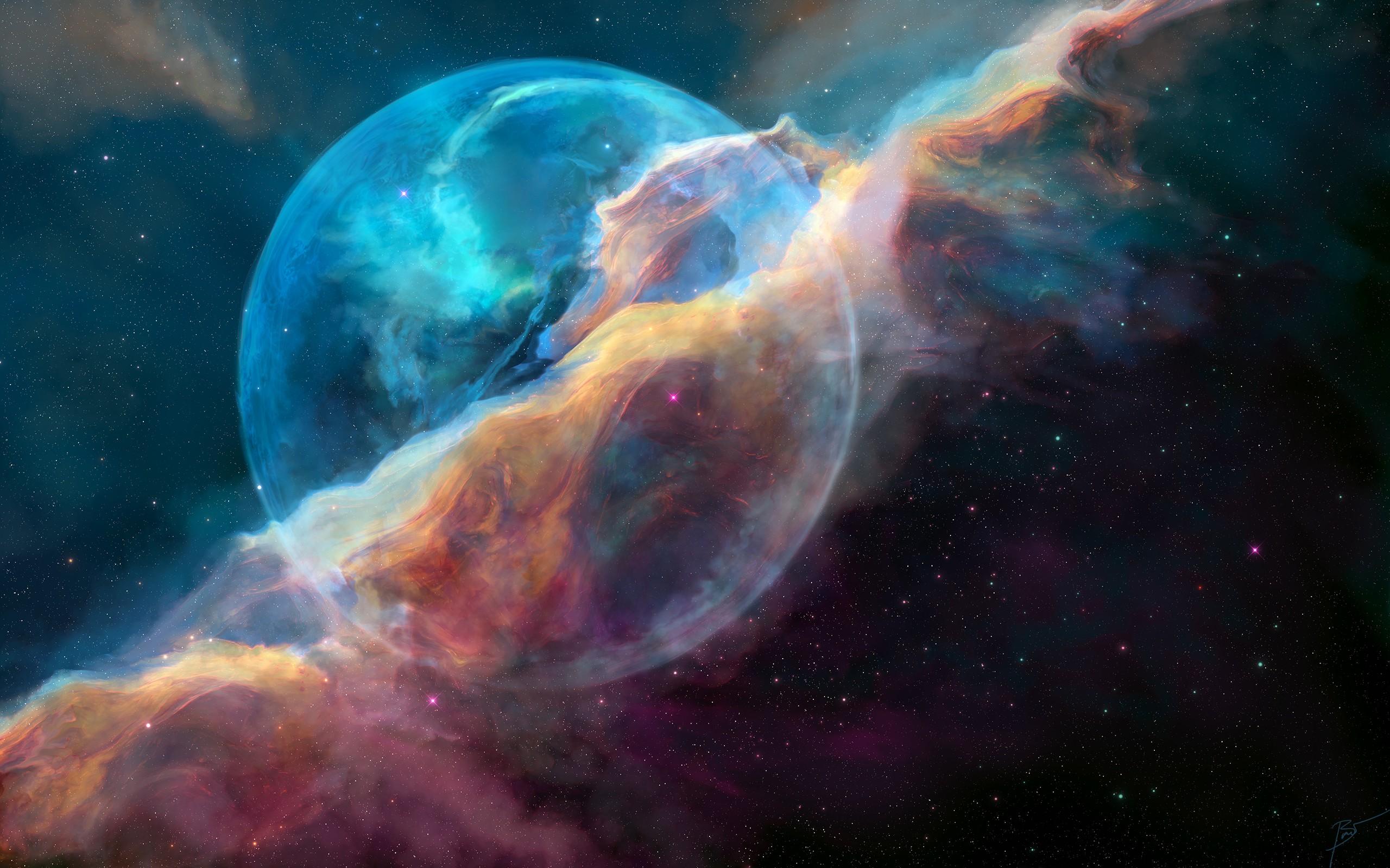 Hi Def 3d Wallpaper Ngc 7635 Bubble Nebula Wallpapers Hd Wallpapers Id 21276