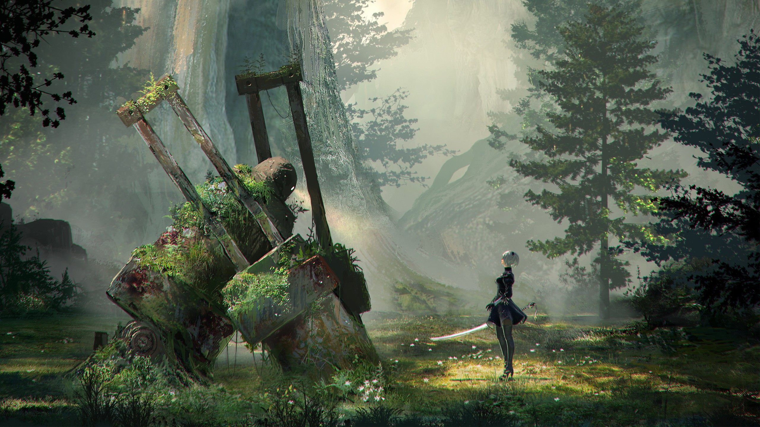Iphone 4 Wallpapers Hd 3d Nier Automata Concept Art Wallpapers Hd Wallpapers Id