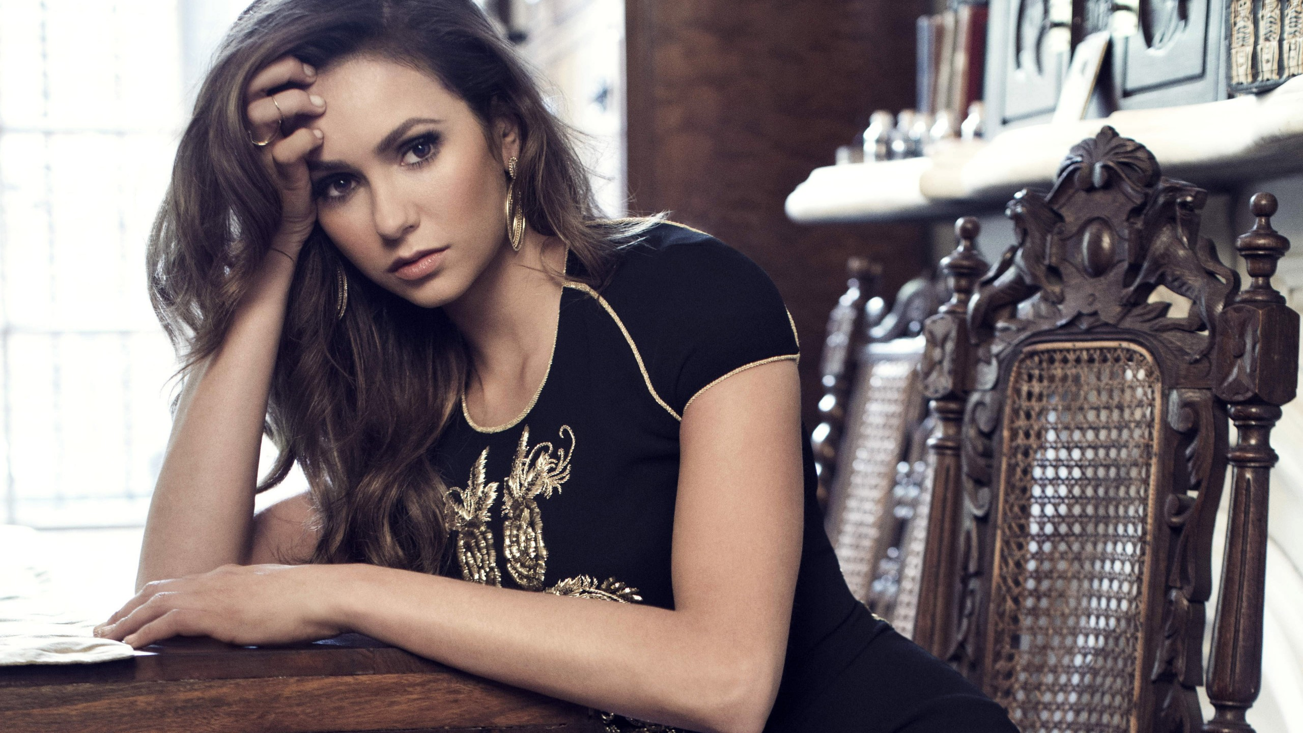 Vampire Diaries Hd Wallpapers 1366x768 Nina Dobrev 4k Wallpapers Hd Wallpapers Id 17267
