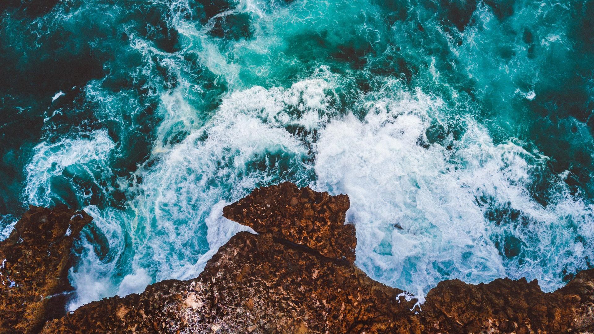 Fall Beach Widescreen Wallpaper Ocean Cliff Drone View 4k Wallpapers Hd Wallpapers Id
